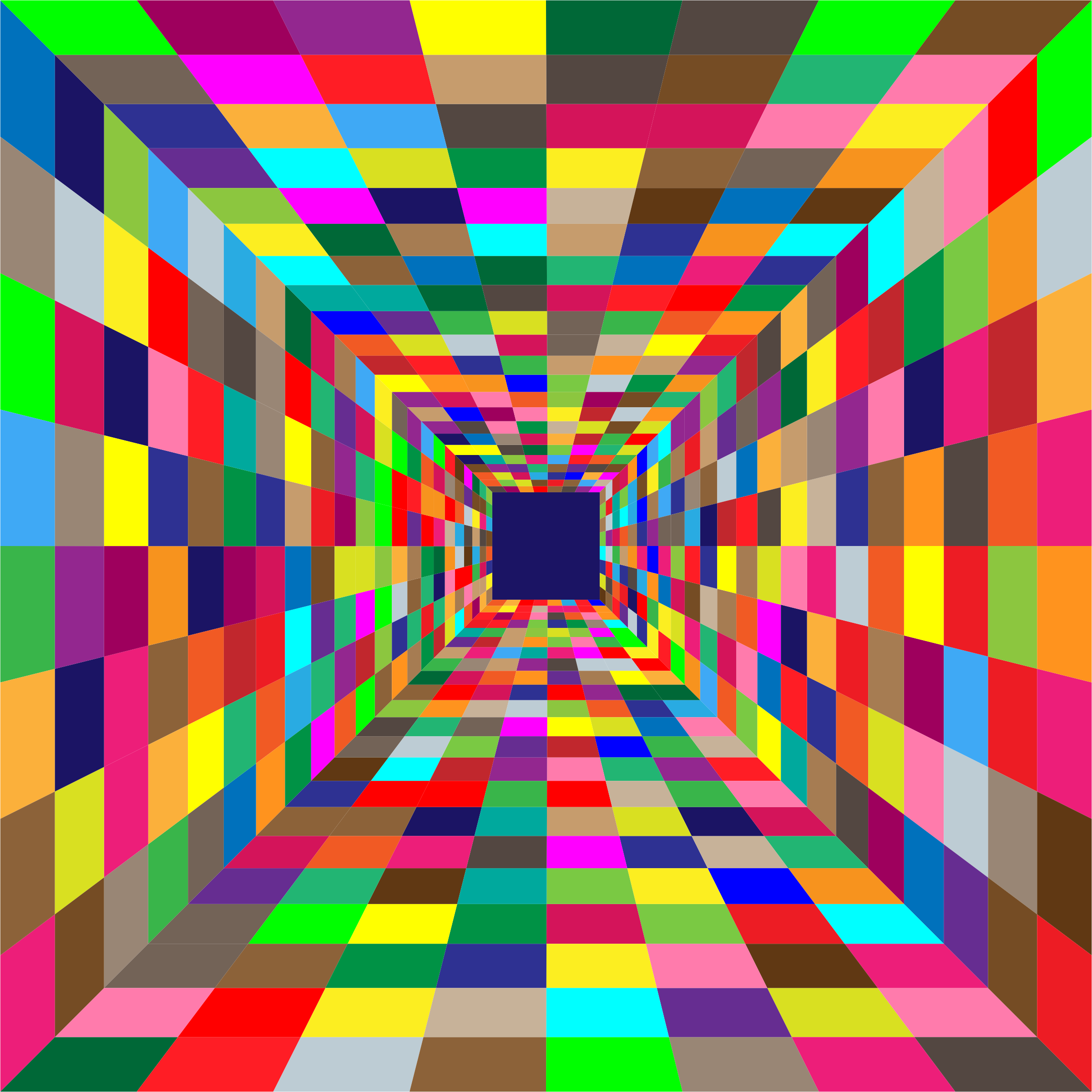 Colorful Perspective Grid 2 by GDJ
