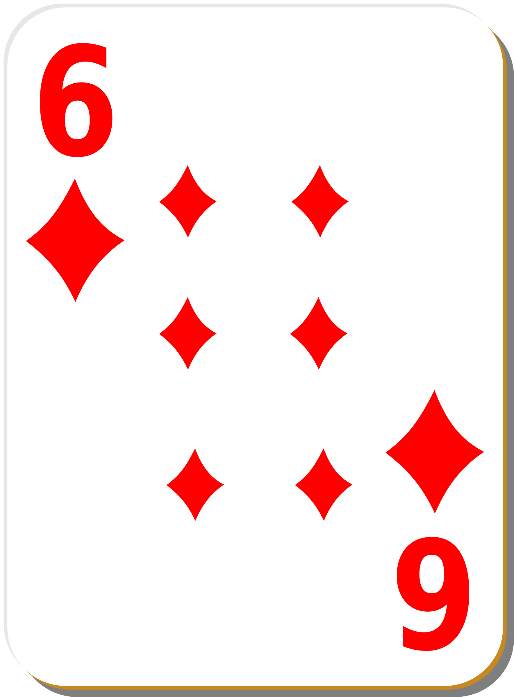 White deck: 6 of diamonds by nicubunu