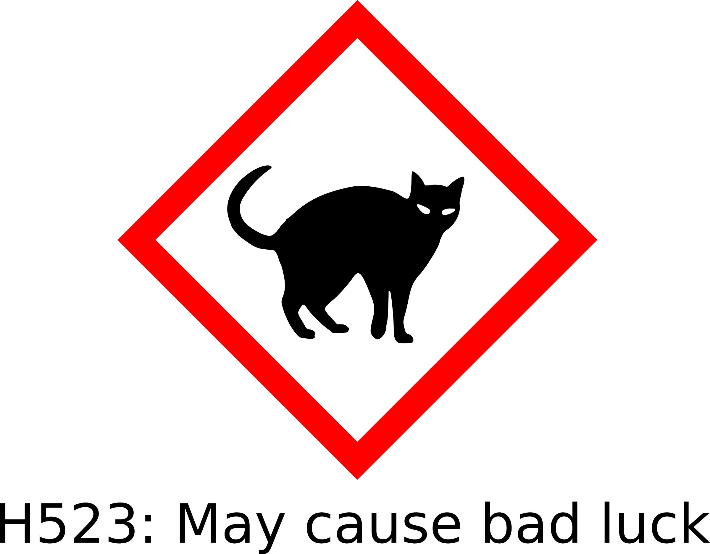 Black cat hazard by Firkin