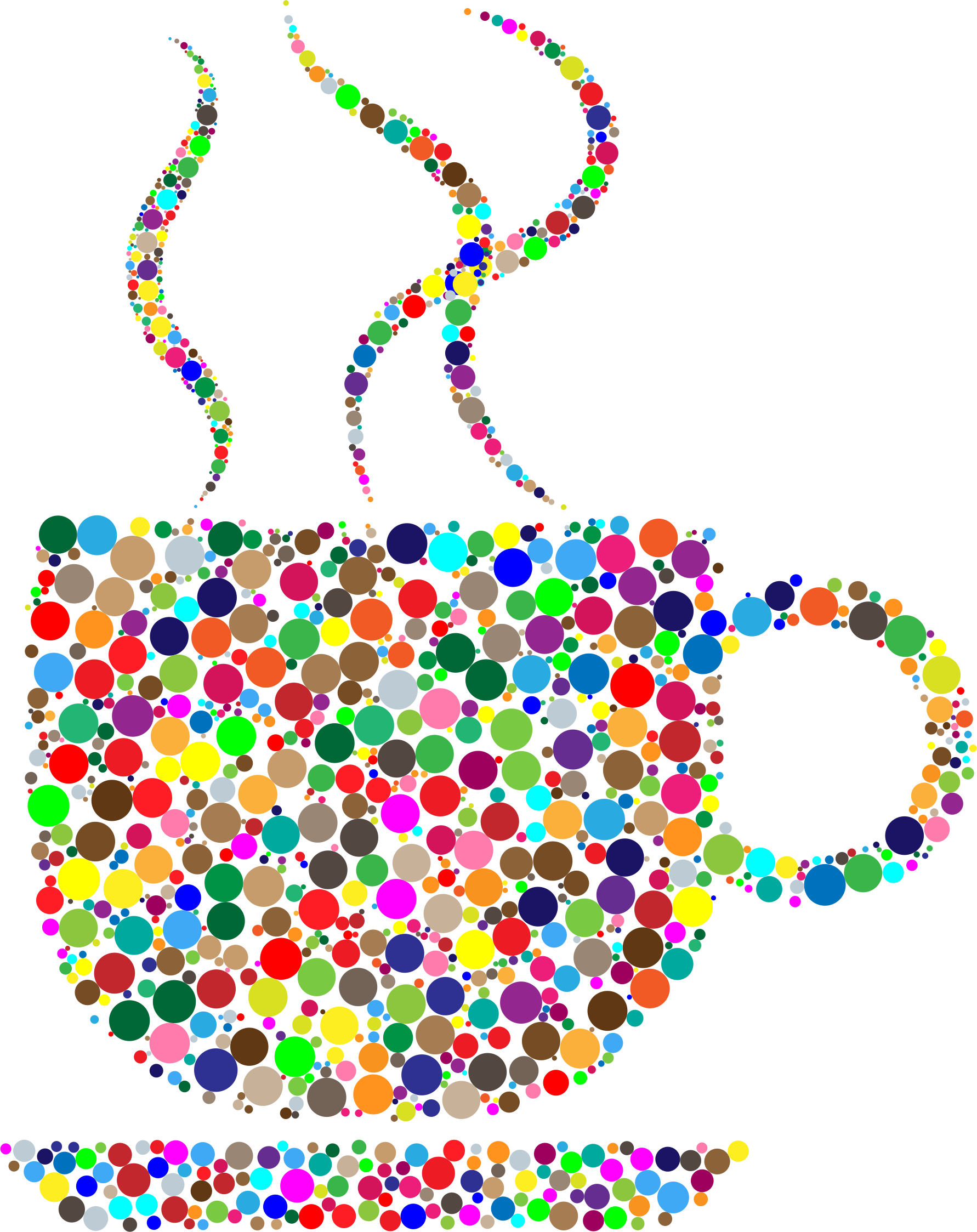 Colorful Coffee Circles by GDJ