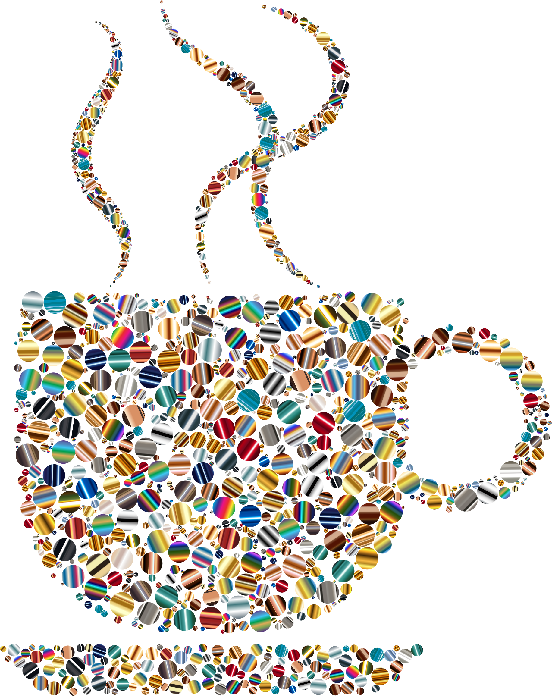 Colorful Coffee Circles 6 by GDJ