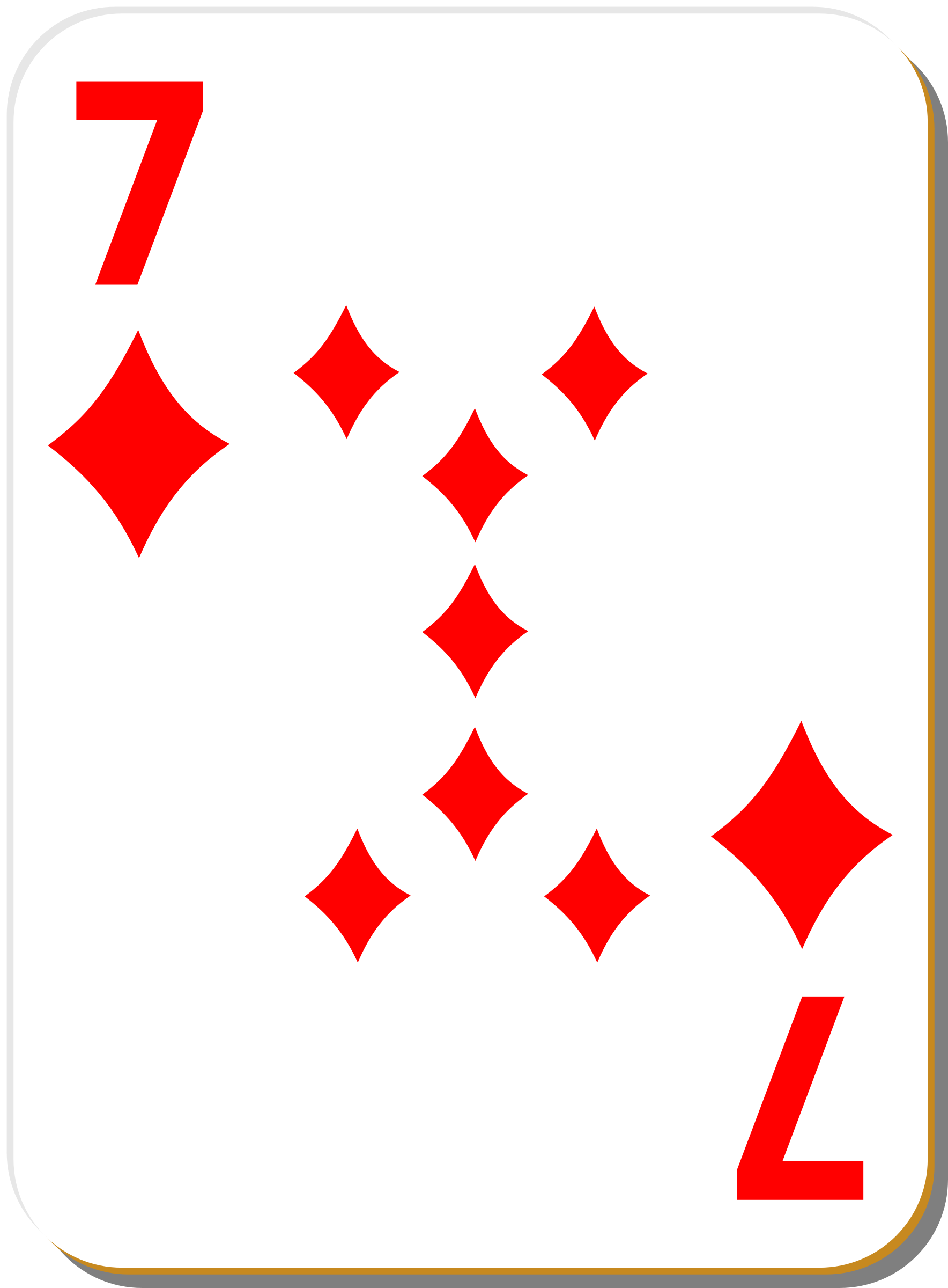 White deck: 7 of diamonds by nicubunu
