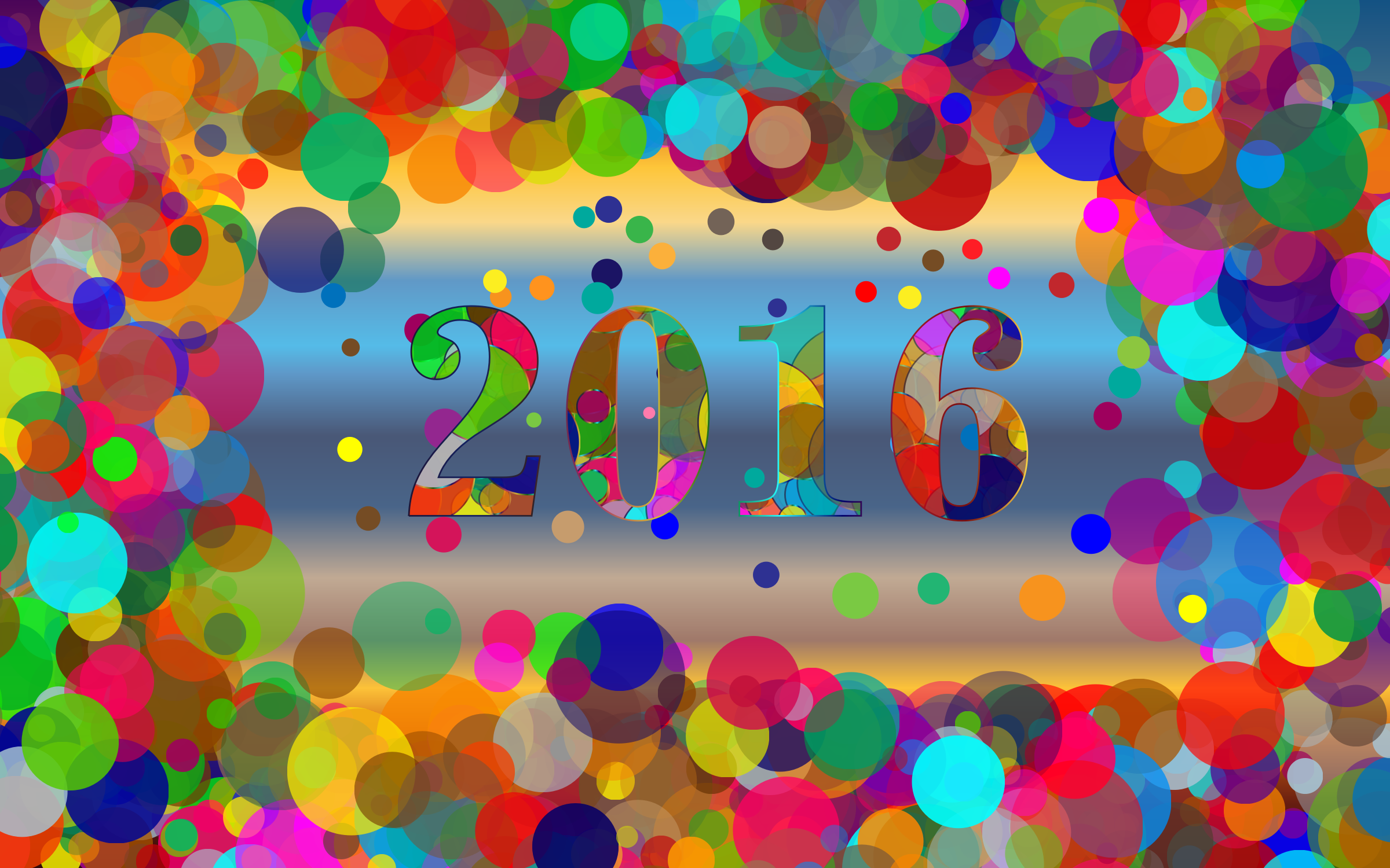 Colorful 2016 Wallpaper by GDJ