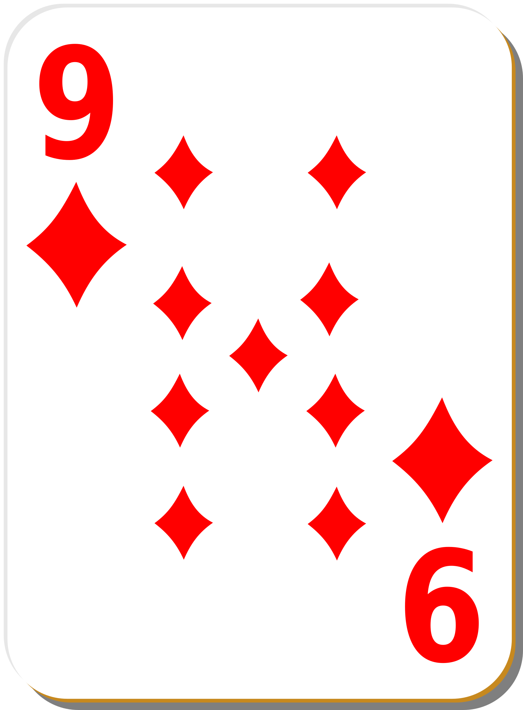 White deck: 9 of diamonds by nicubunu