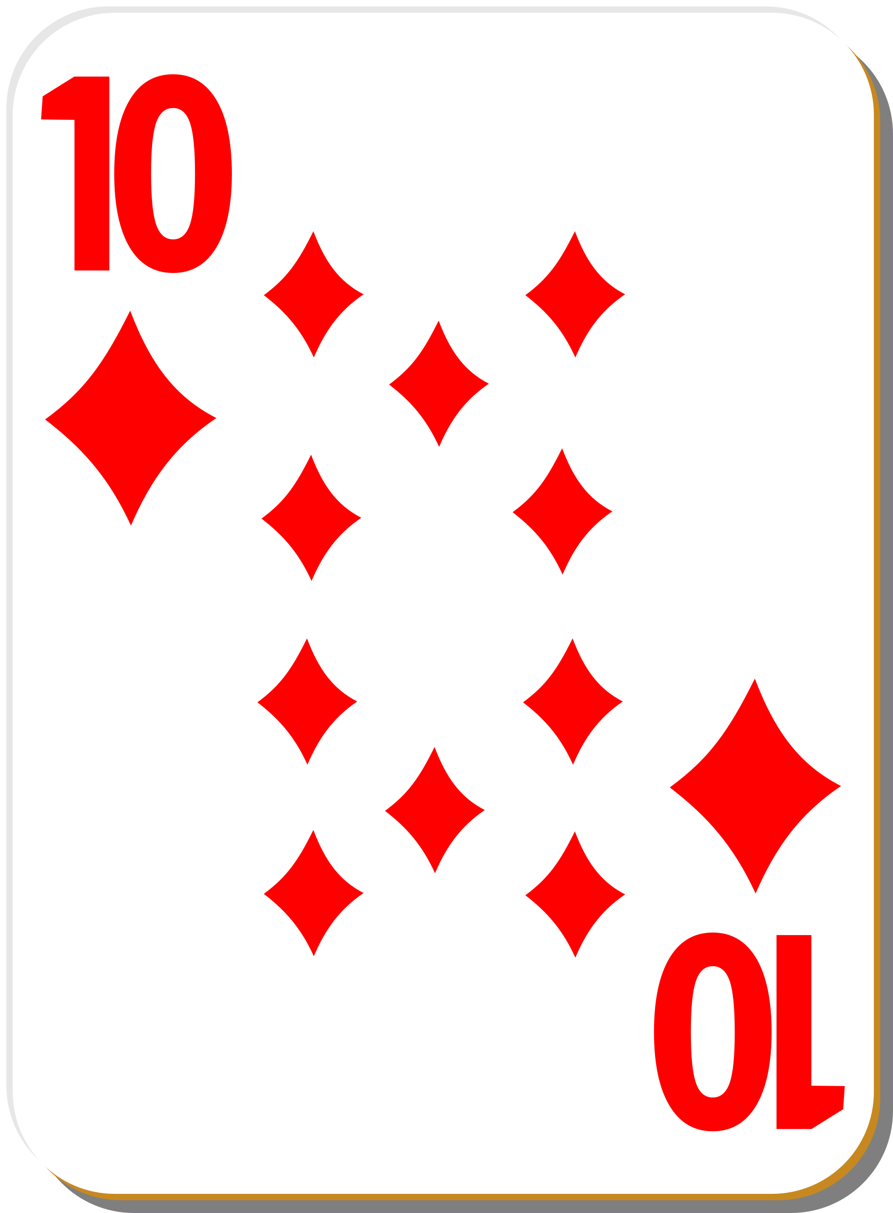 White deck: 10 of diamonds by nicubunu