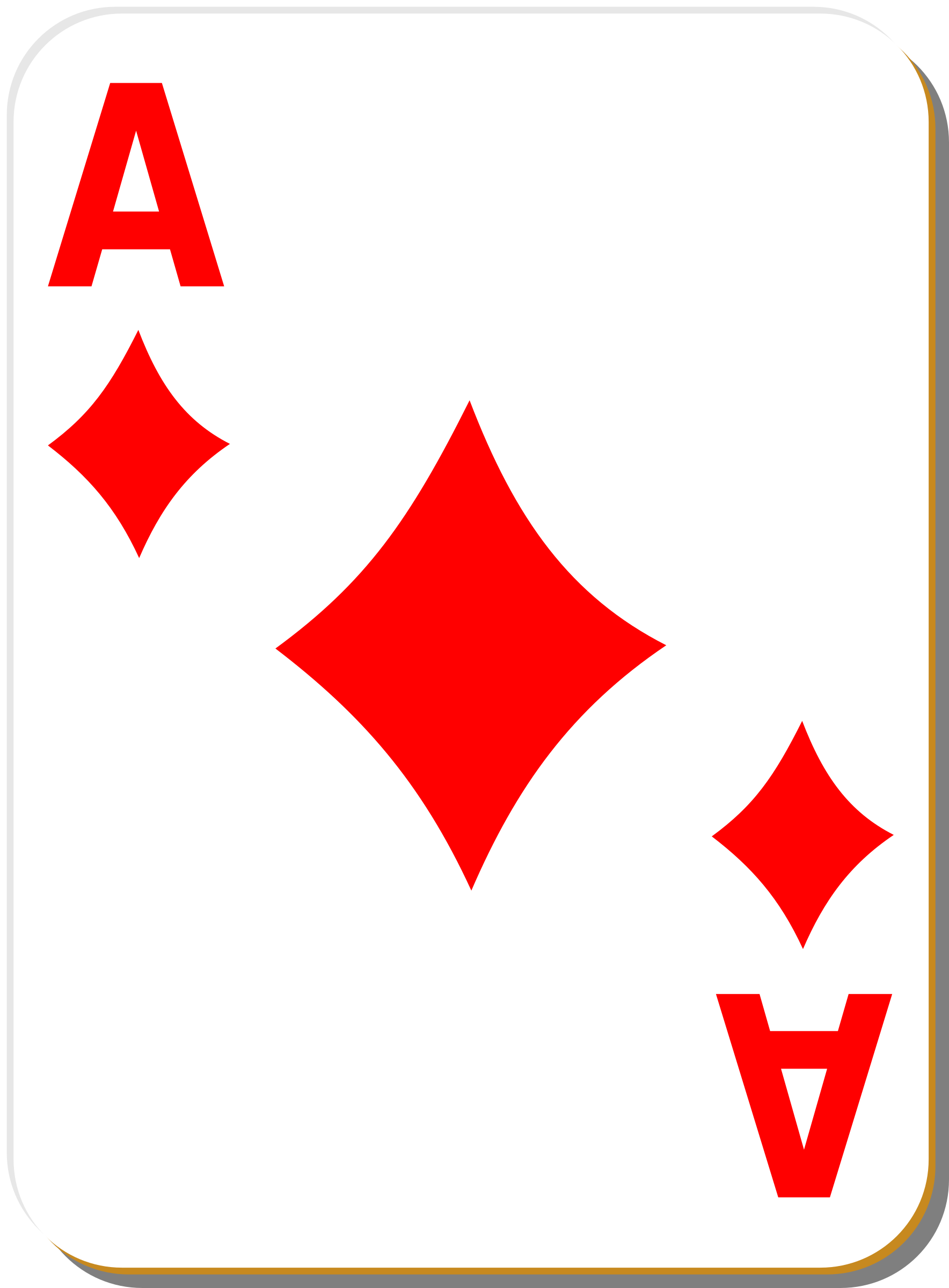 White deck: Ace of diamonds by nicubunu