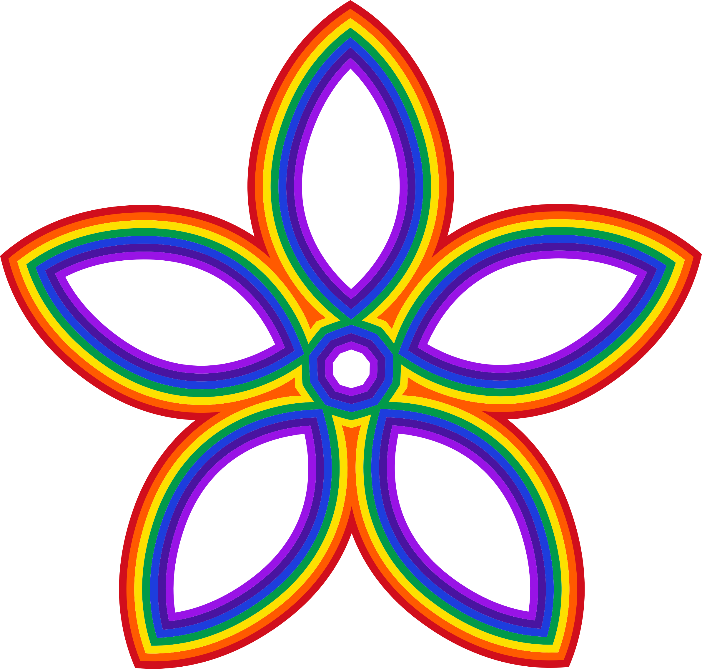 Rainbow Flower by GDJ