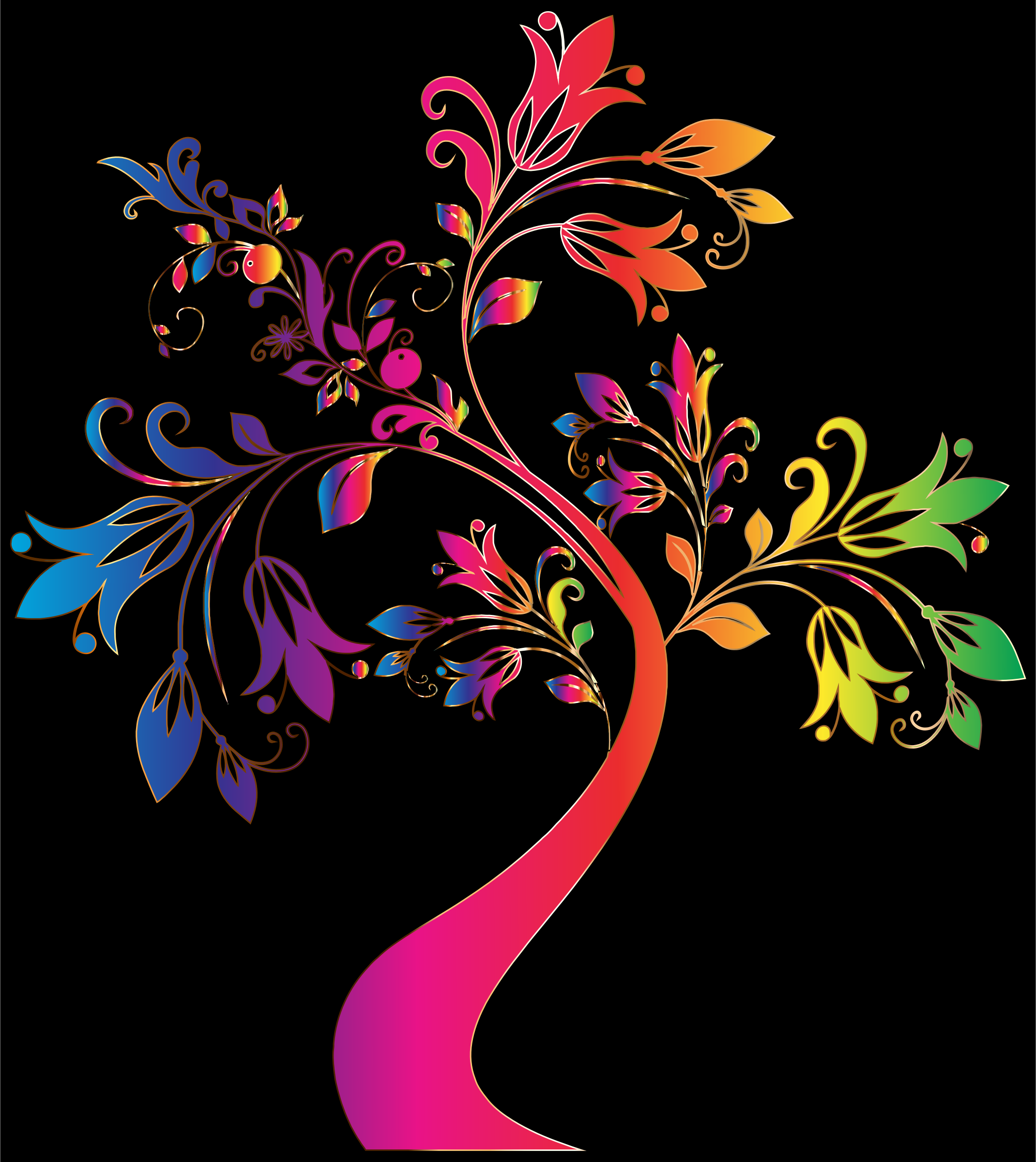 Colorful Floral Tree 8 by GDJ