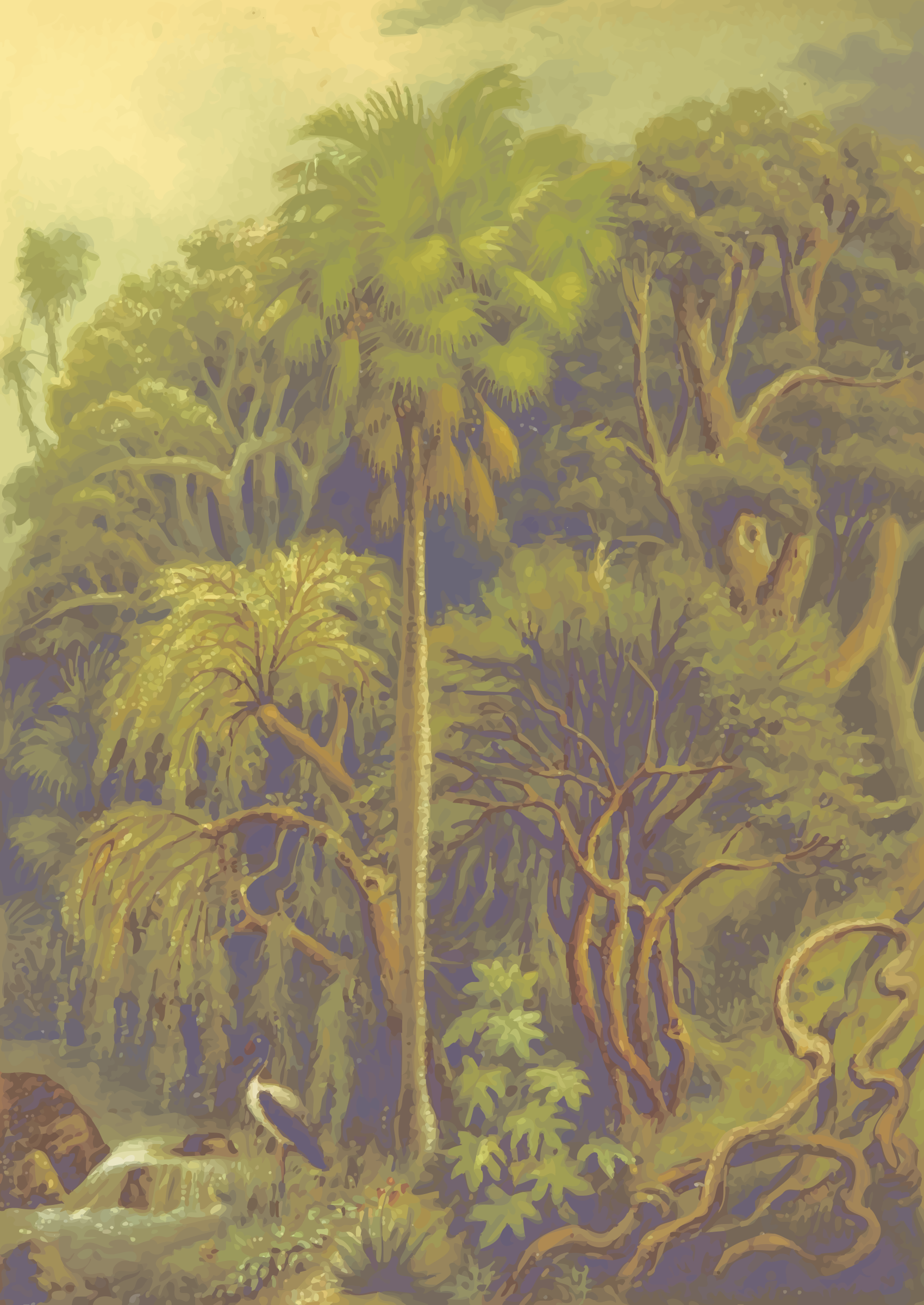 Jungle vegetation by Firkin