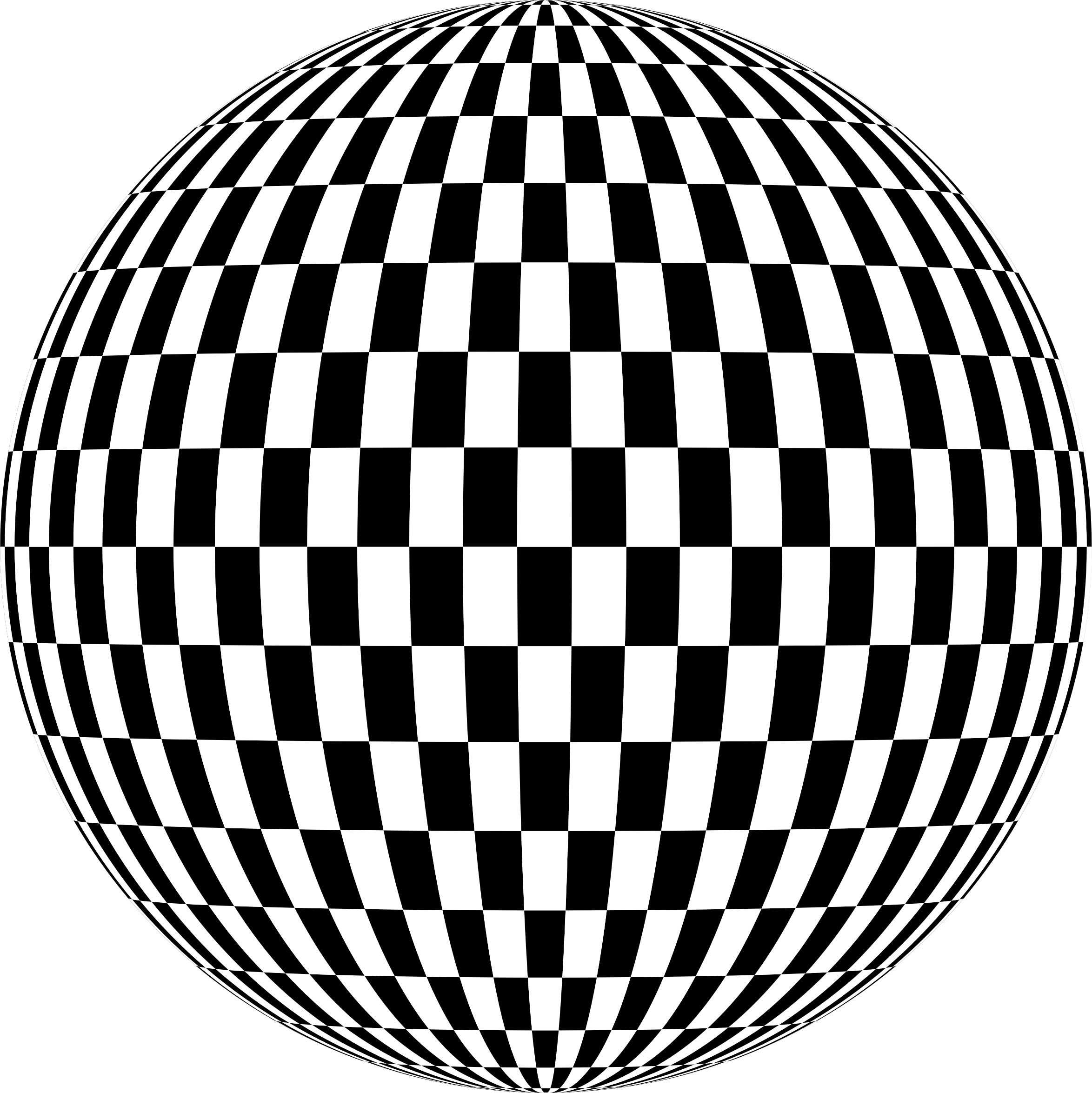 Checkered Sphere by GDJ