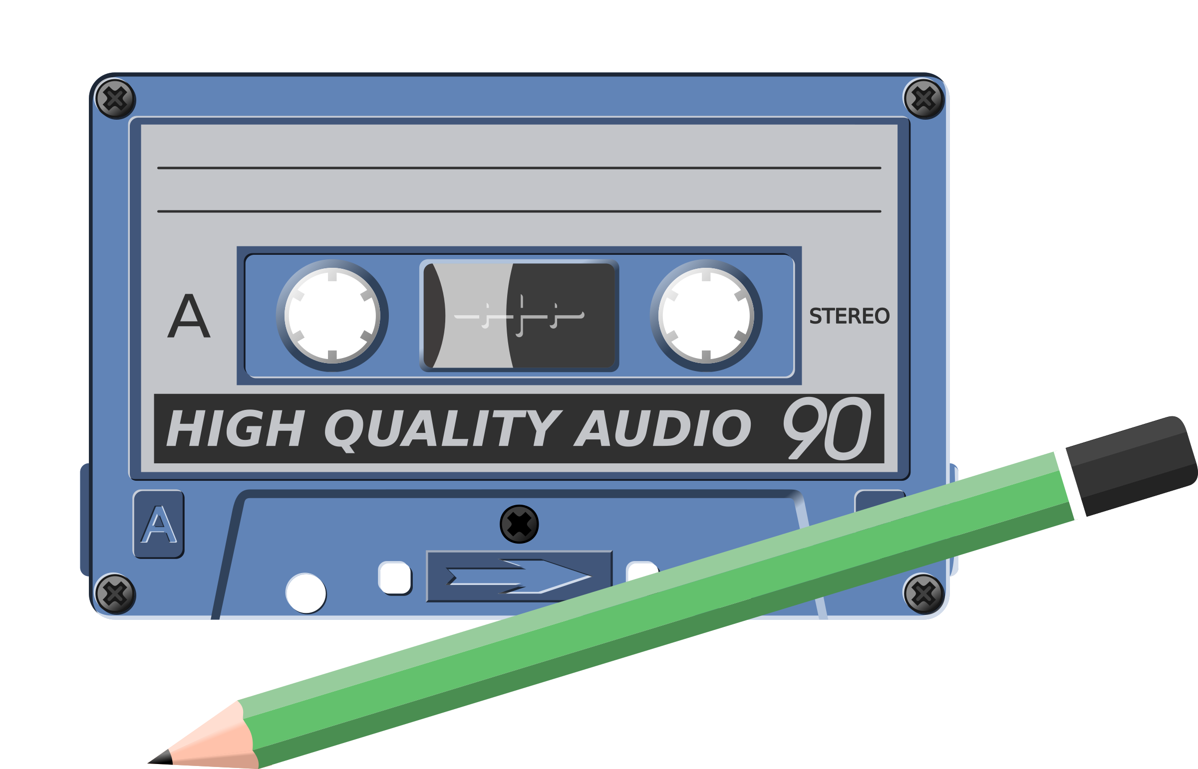 audio-cassette with pen by yves_guillou