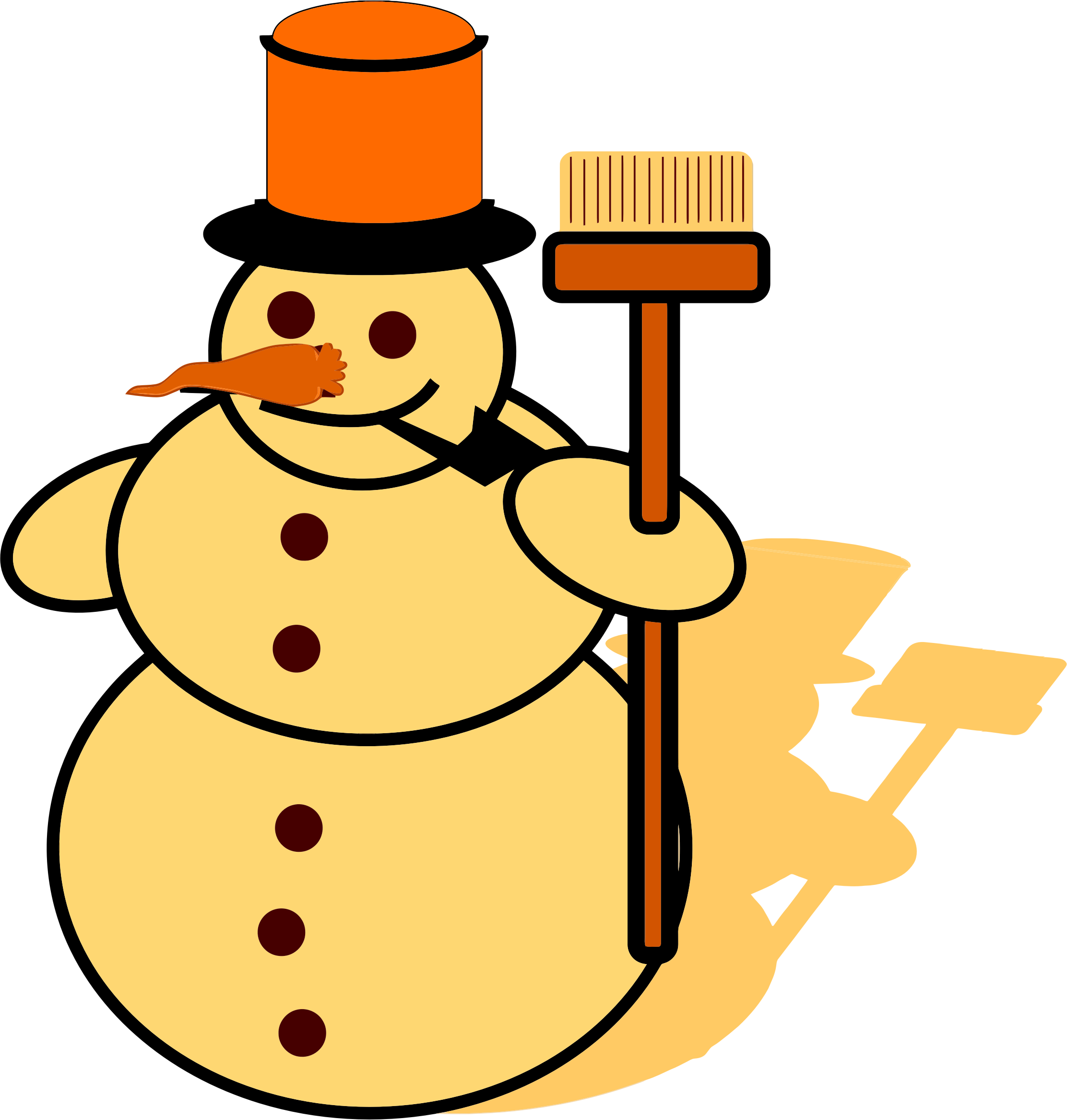 Yellow Snowman by GDJ