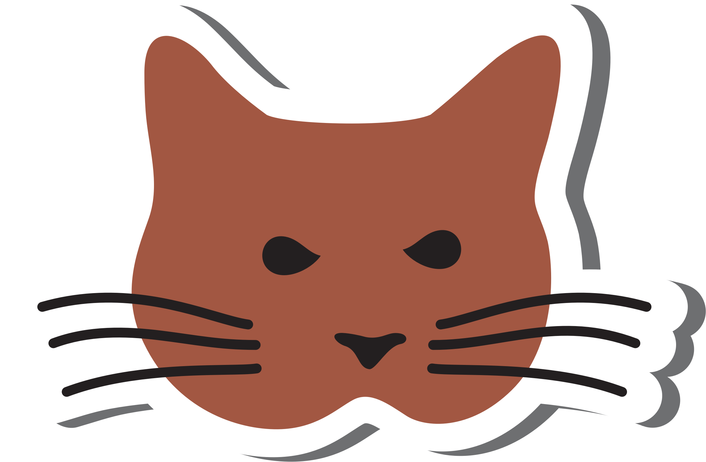 Clipart - Simple Cat Head