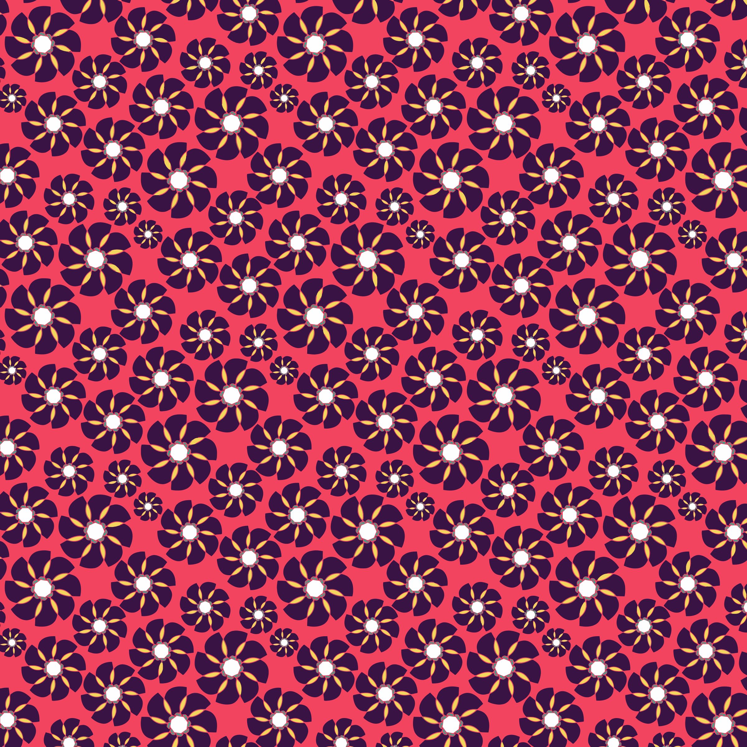 Seamless Floral Pattern Tile by GDJ