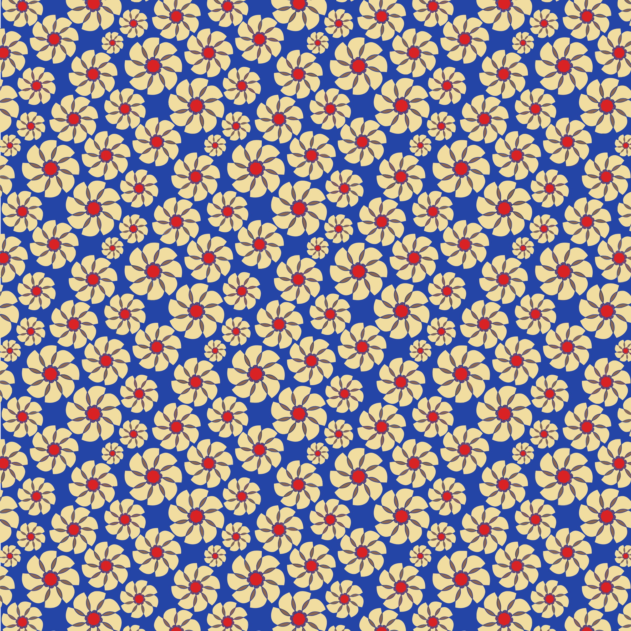 Seamless Floral Pattern Tile 2 by GDJ