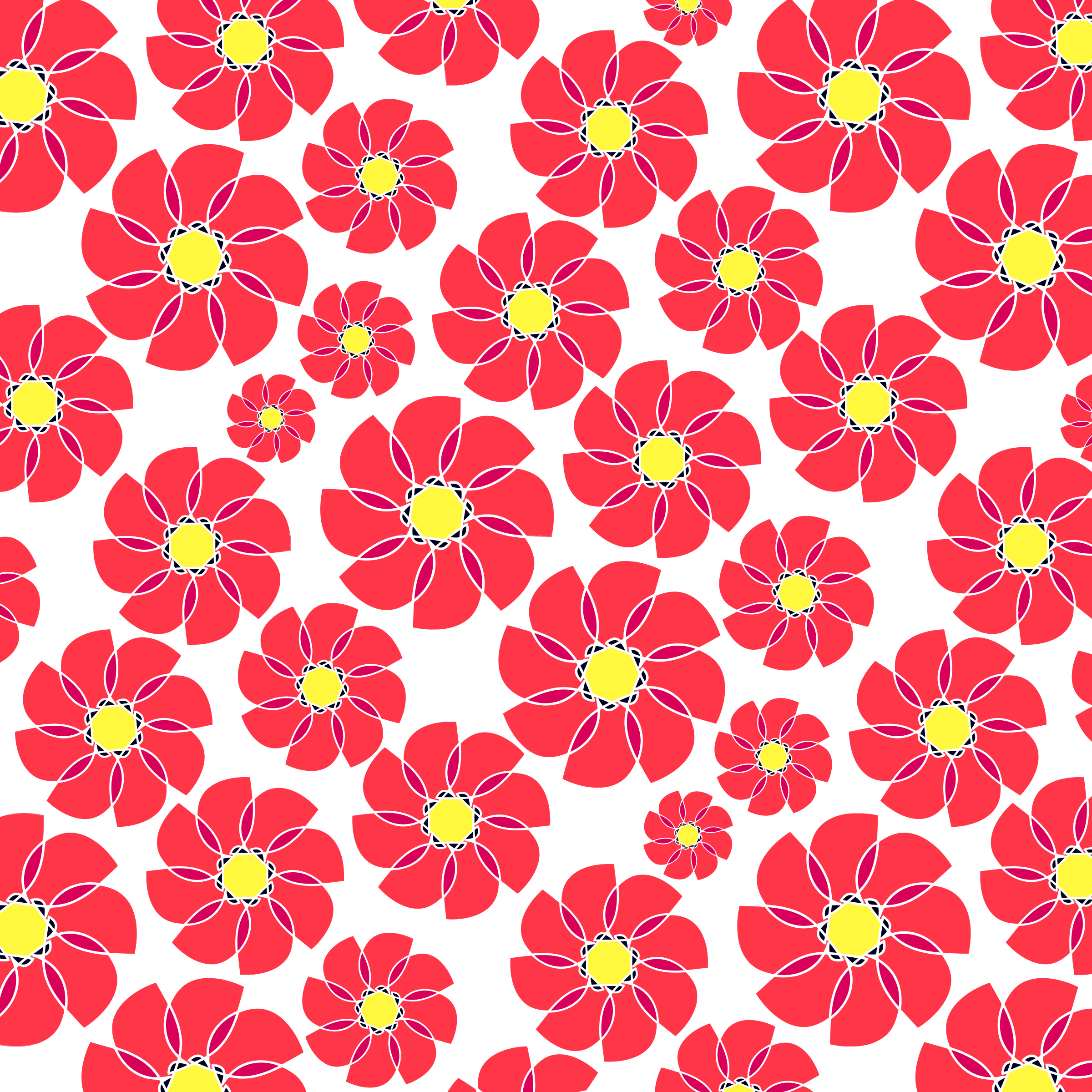 Seamless Floral Pattern Tile 3 by GDJ