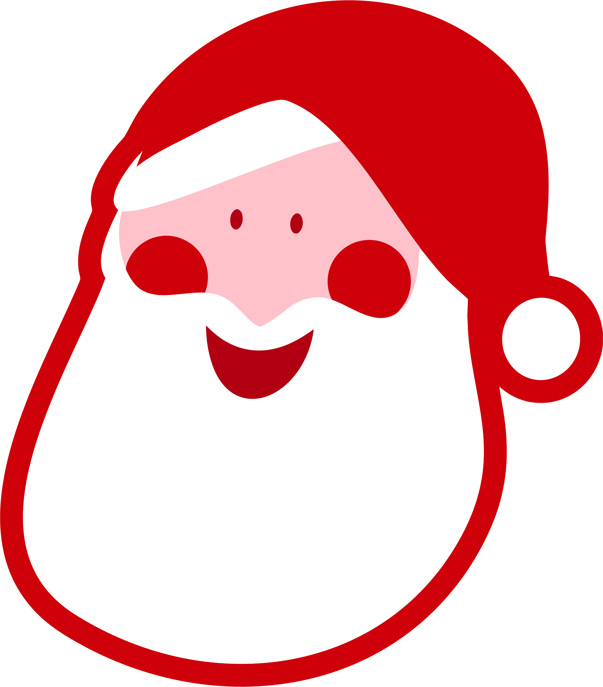 Santa Claus Head by GDJ
