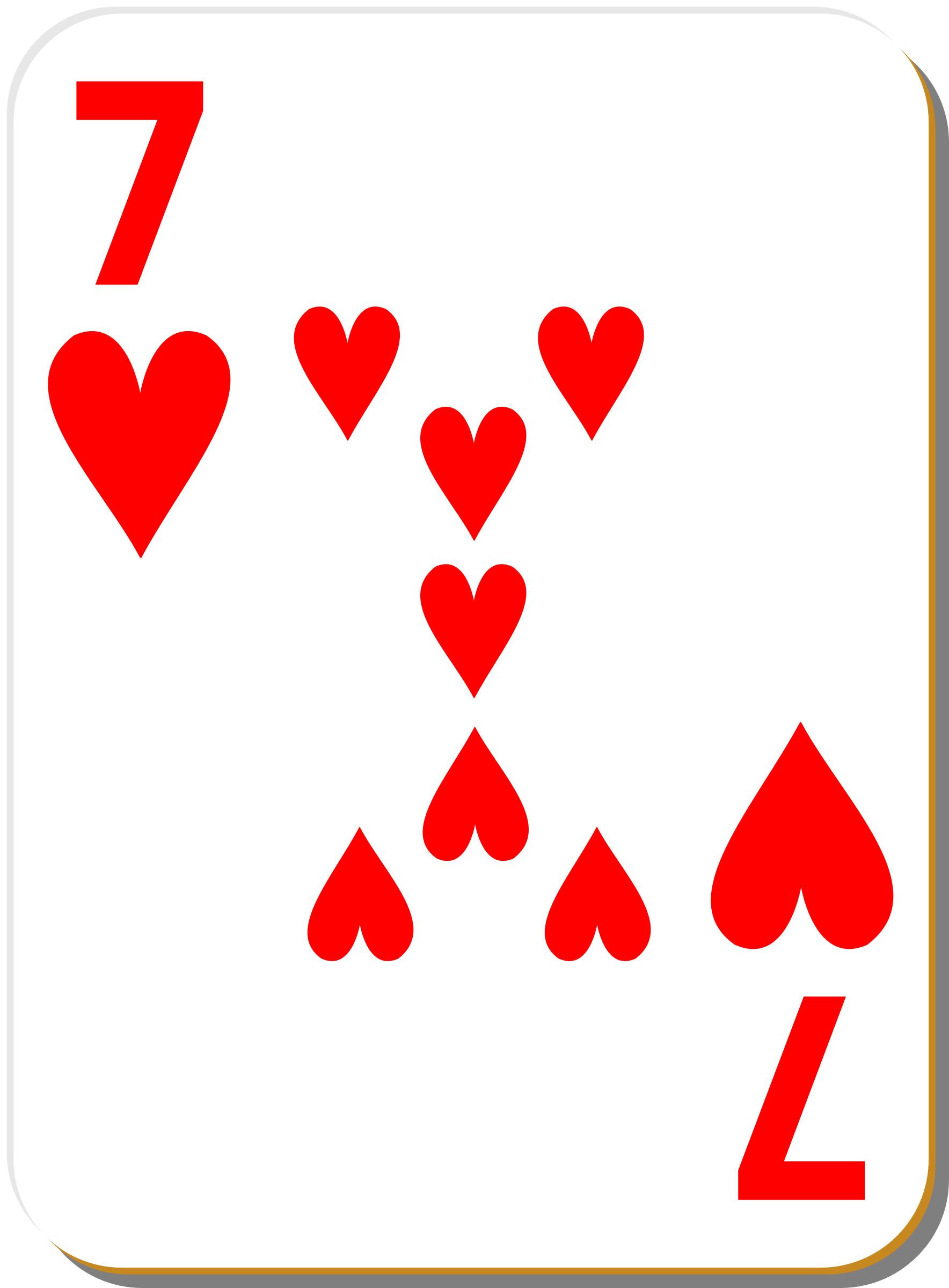 White deck: 7 of hearts by nicubunu