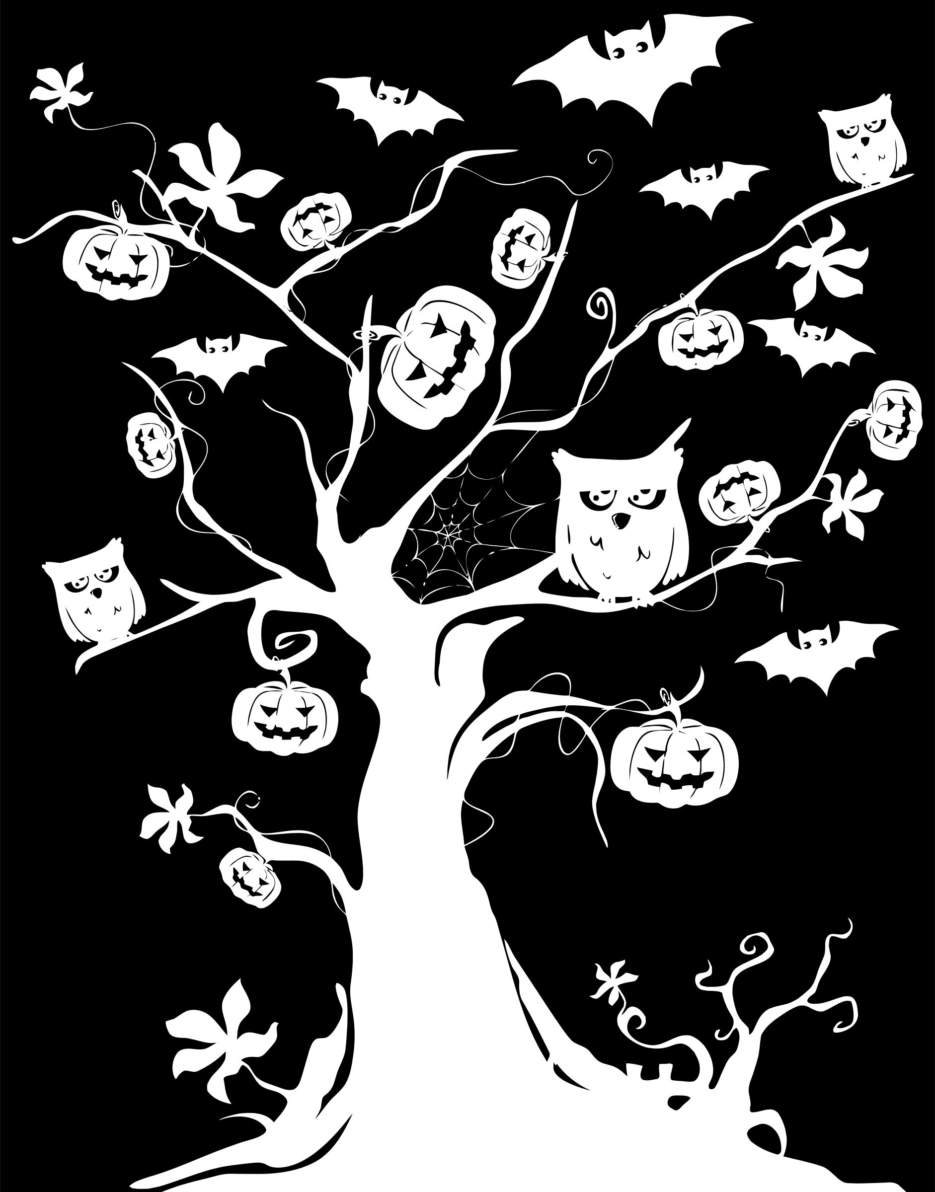 Halloween Tree Inverse Silhouette by GDJ