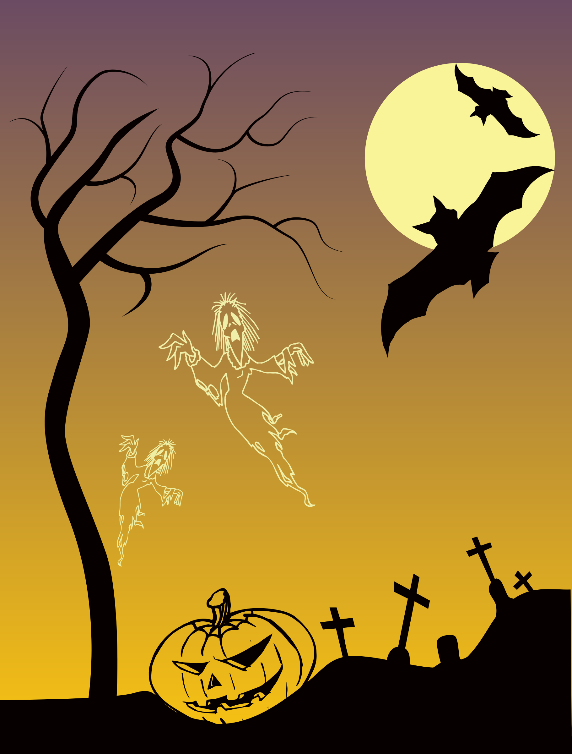Halloween Scene by GDJ