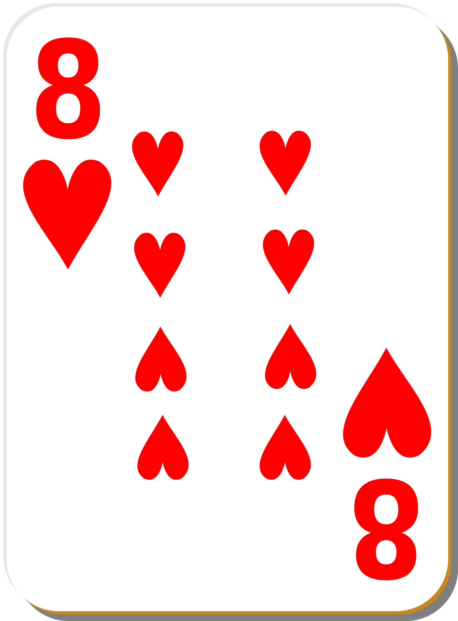 White deck: 8 of hearts by nicubunu