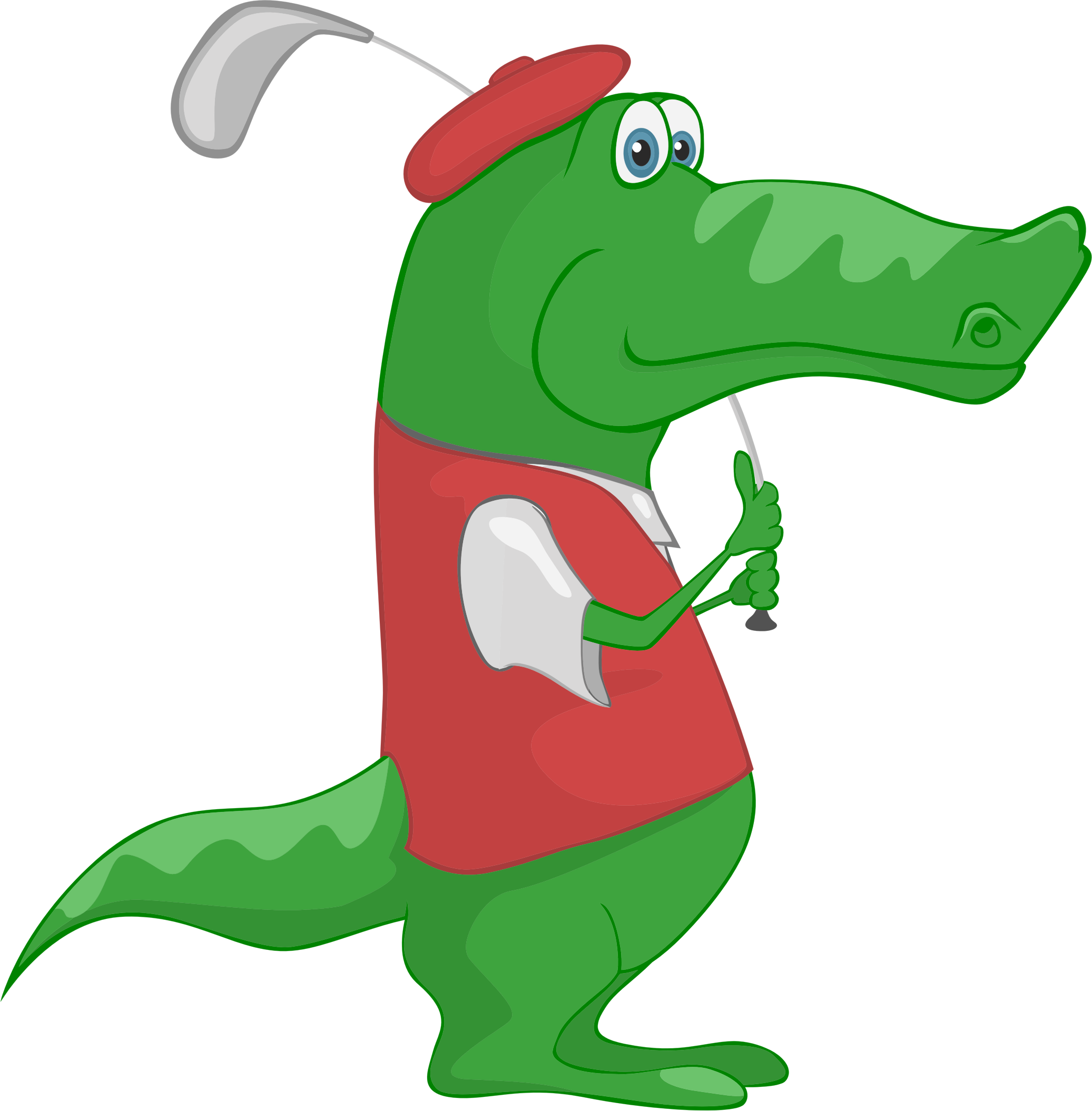 Crocodile Playing Golf by GDJ
