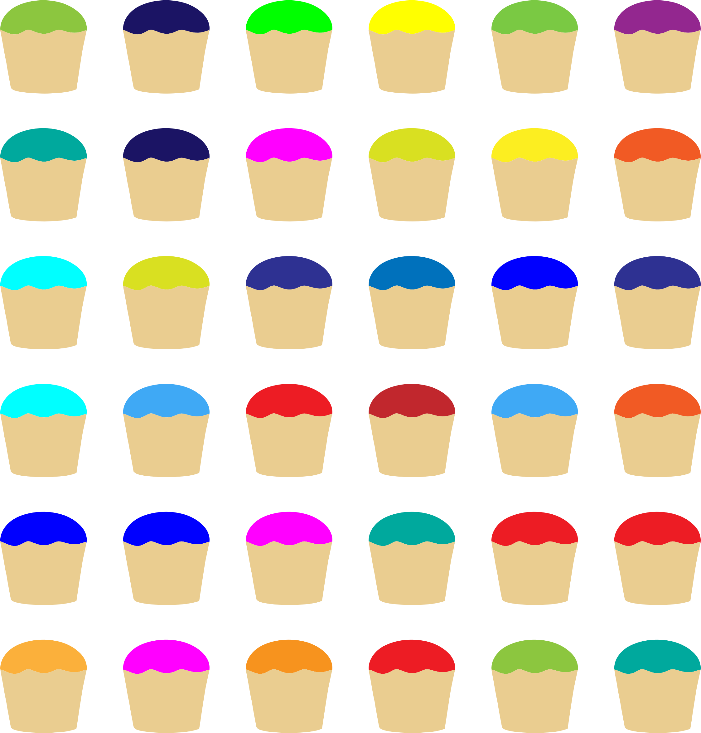 Colorful Cupcakes Pattern by GDJ