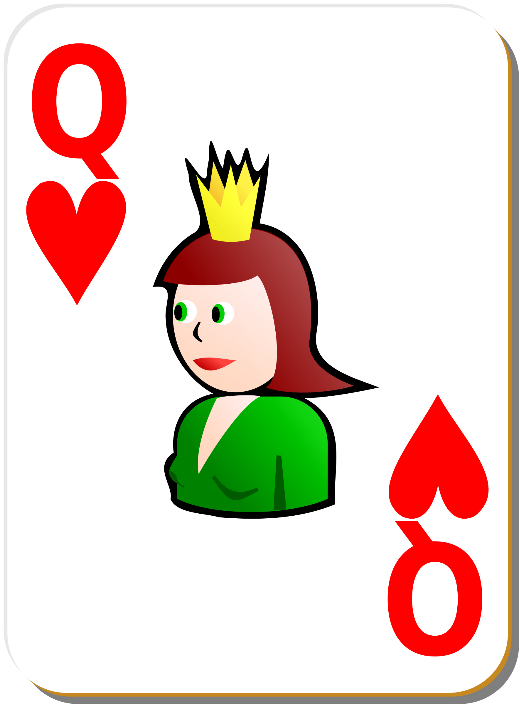 White deck: Queen of hearts by nicubunu