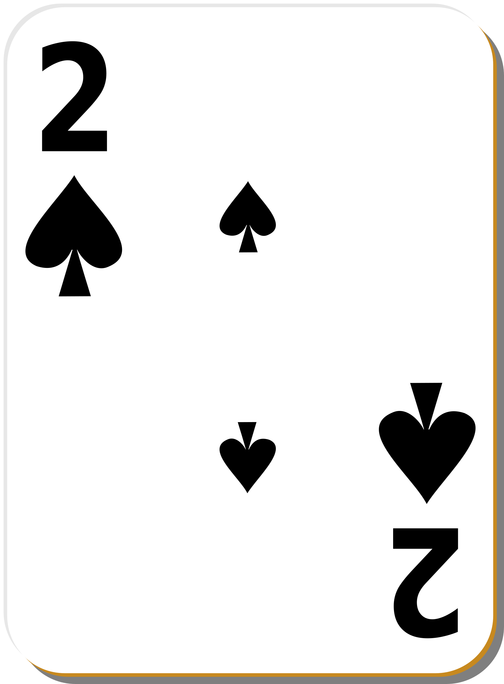 White deck: 2 of spades by nicubunu