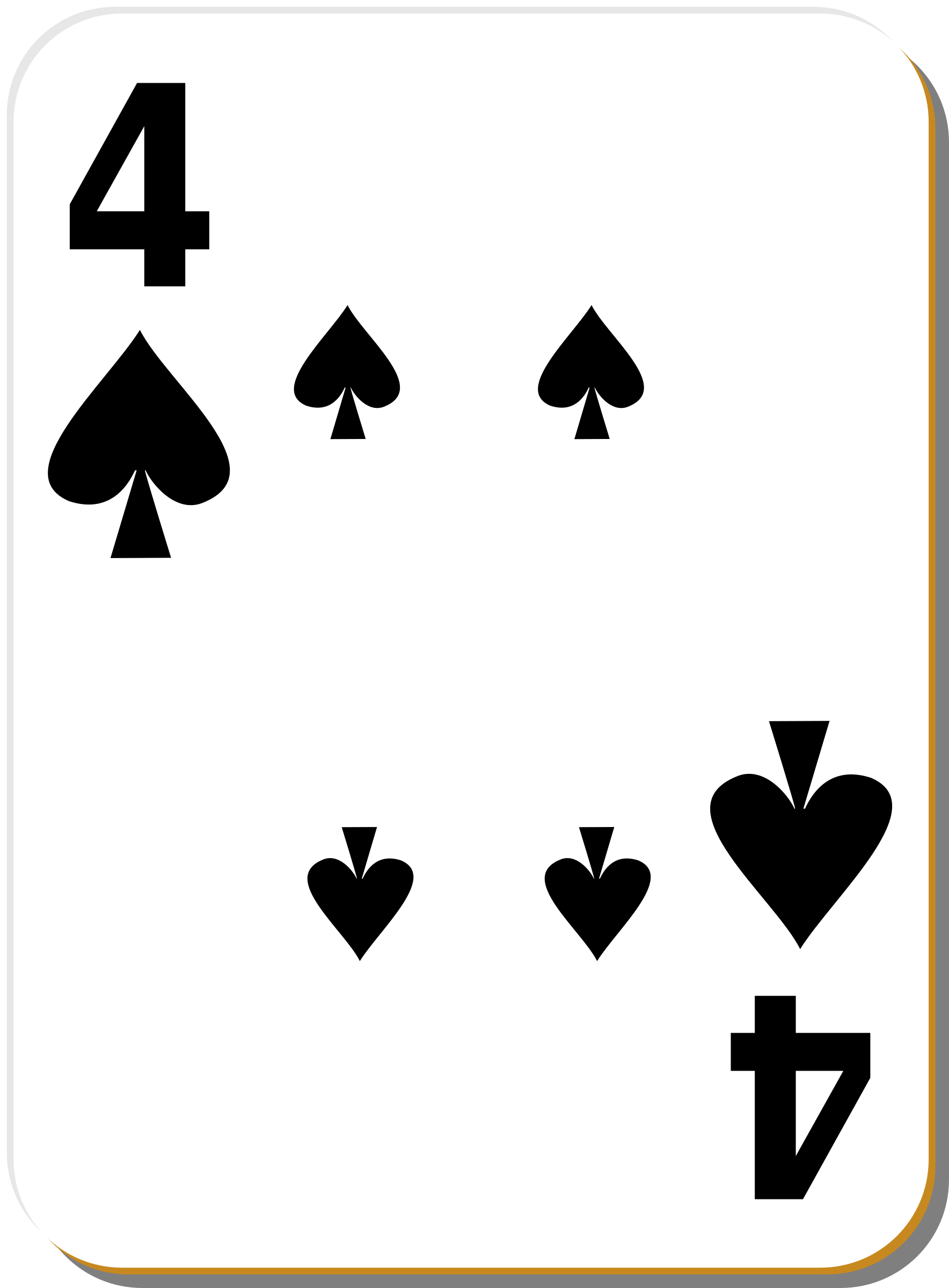 White deck: 4 of spades by nicubunu
