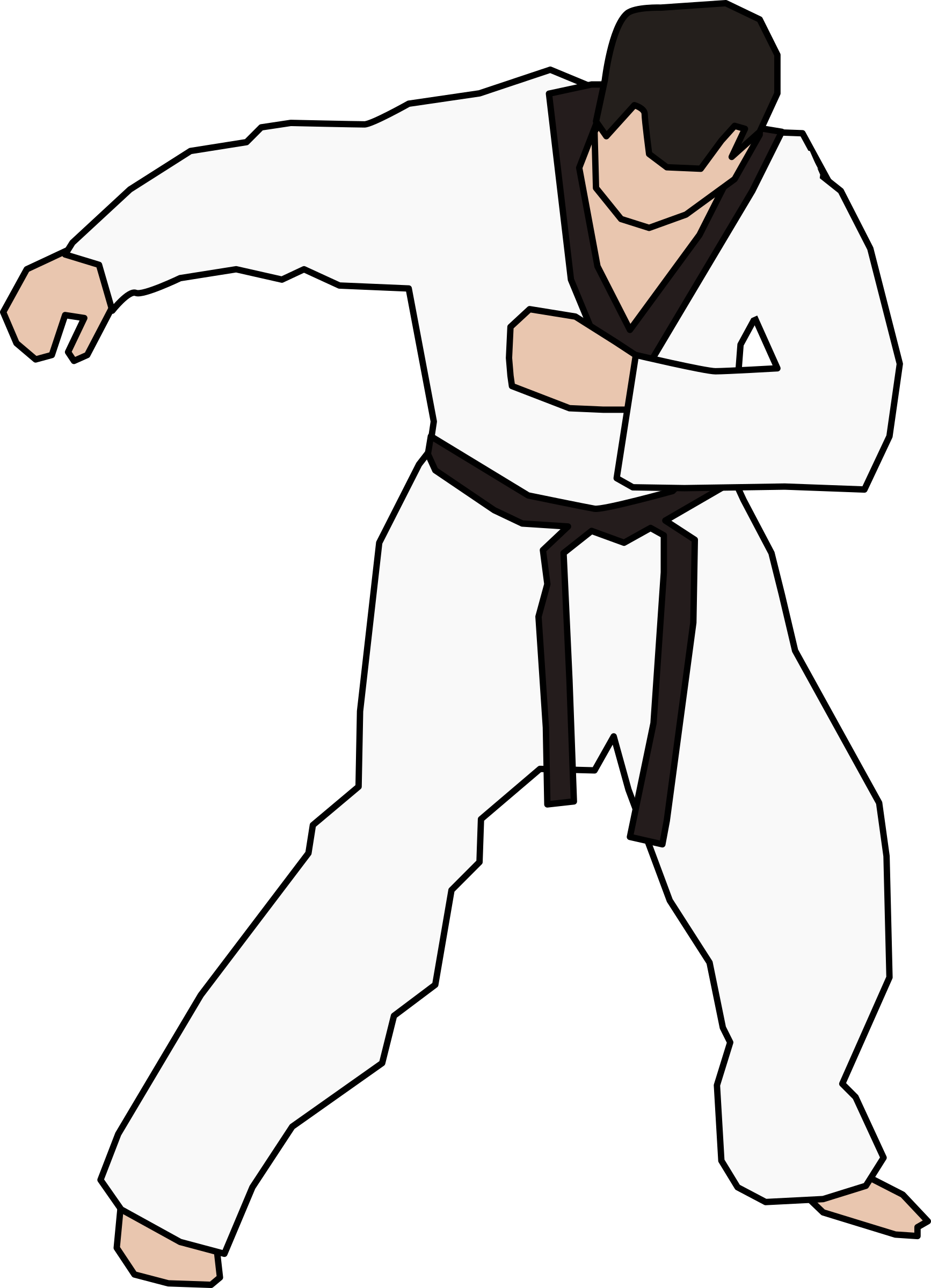 clipart taekwondo fighter rh openclipart org taekwondo clip art images taekwondo clipart free
