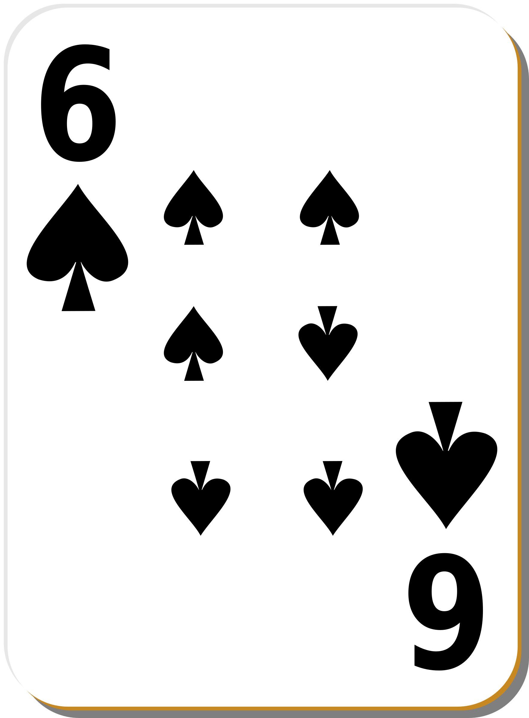 White deck: 6 of spades by nicubunu