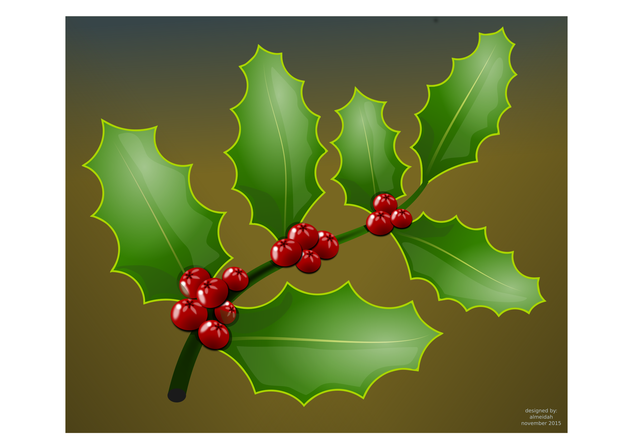 Clipart Holly Branch
