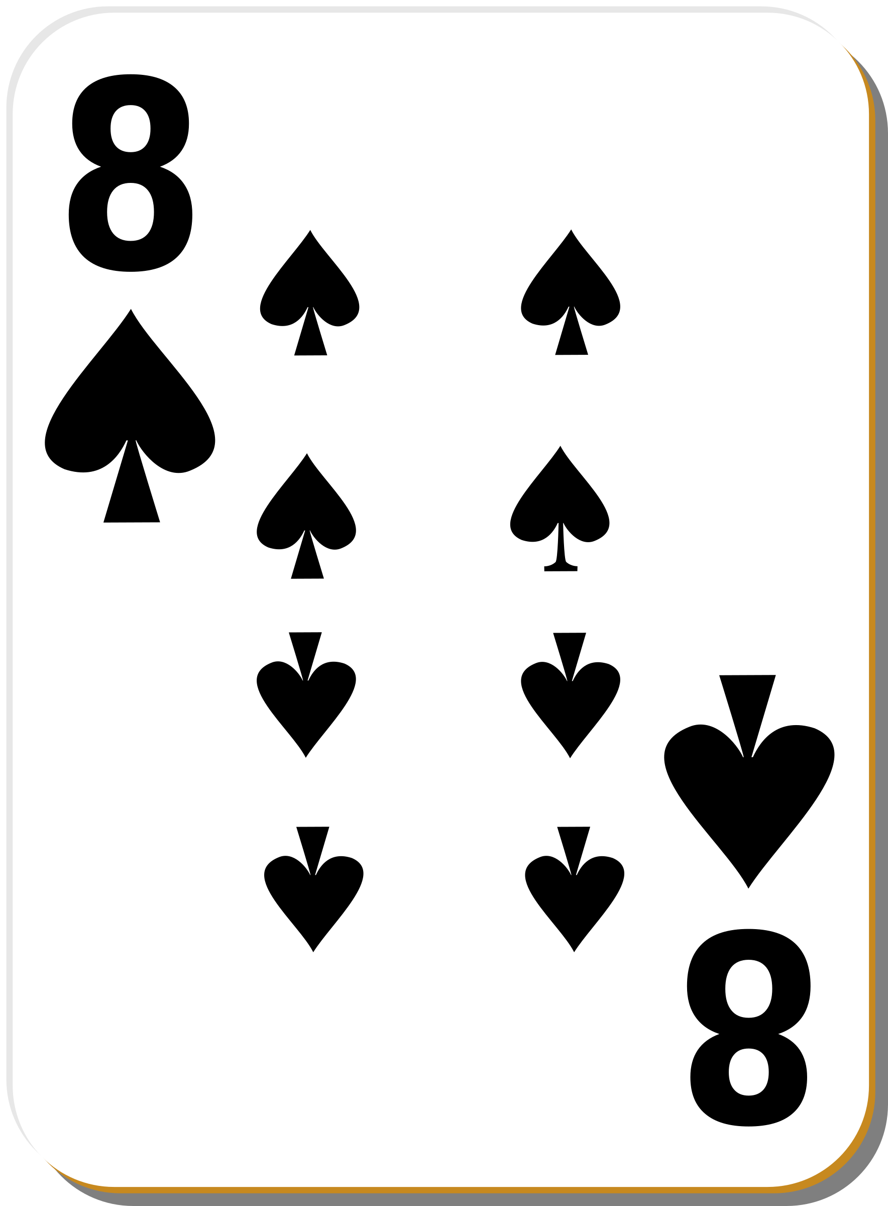 White deck: 8 of spades by nicubunu