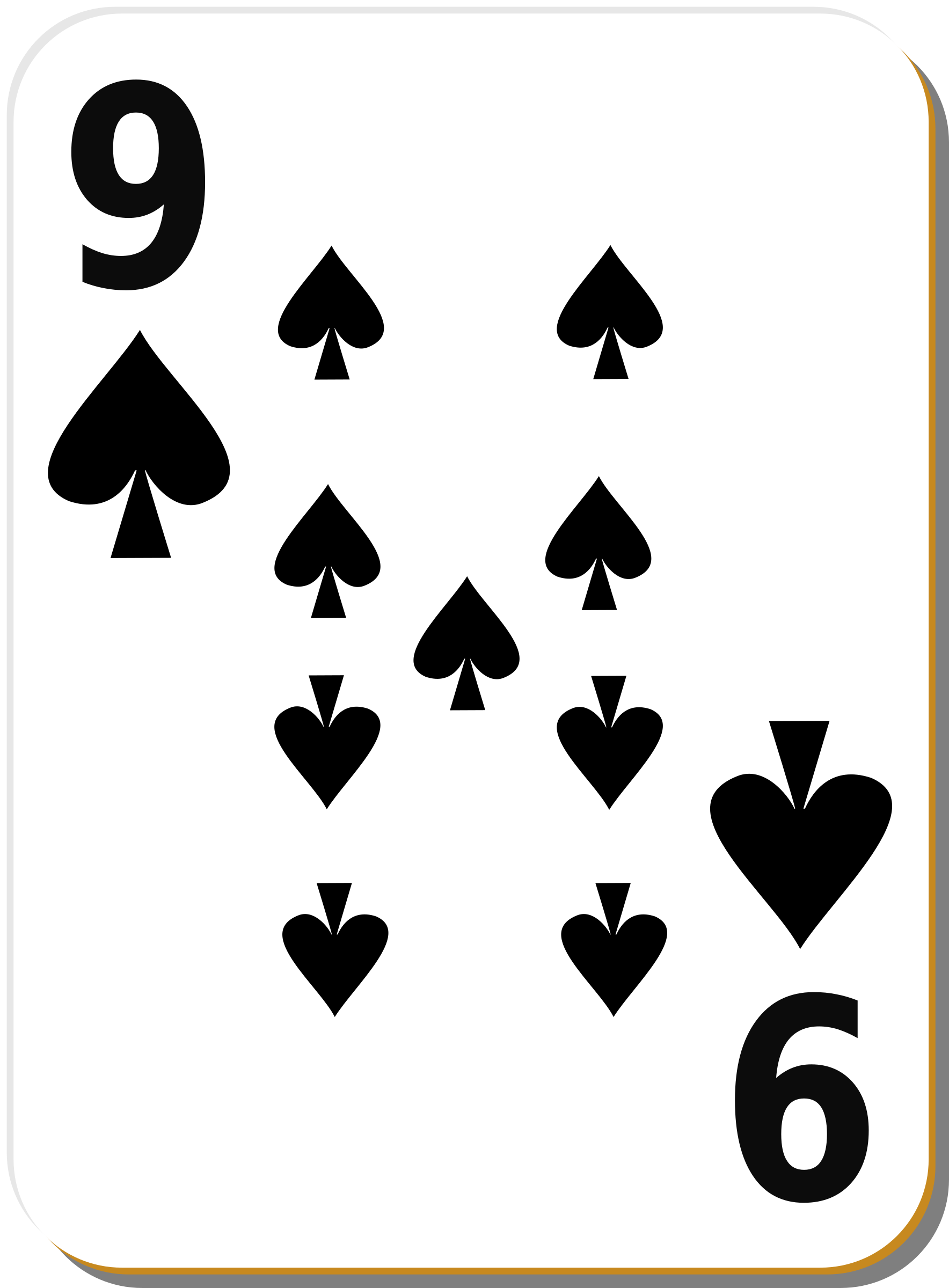 White deck: 9 of spades by nicubunu