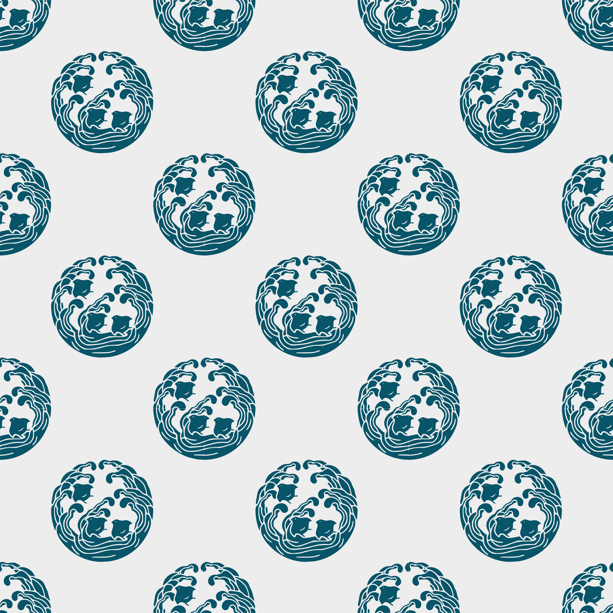 Wave and plover -seamless pattern by yamachem