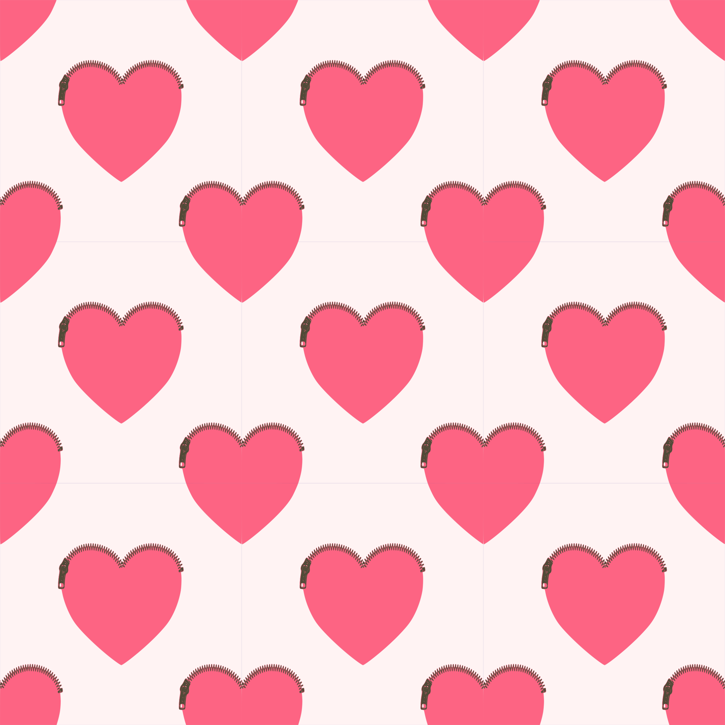 Clipart - Heartshaped purse-seamless pattern