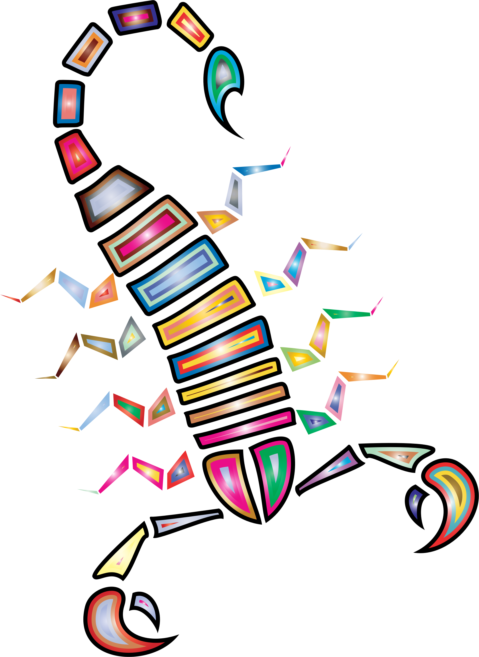 Colorful Abstract Tribal Scorpion by GDJ
