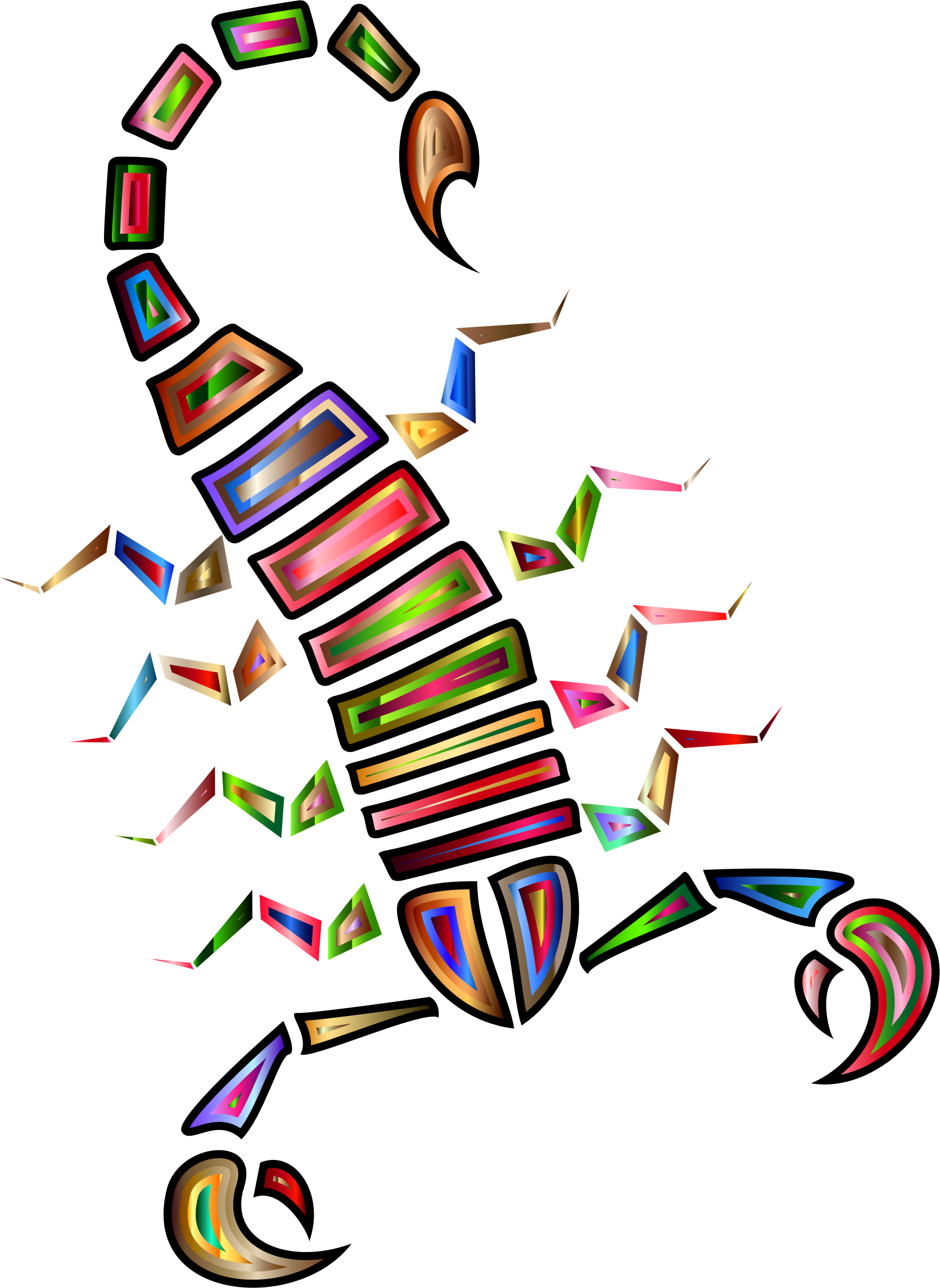 Colorful Abstract Tribal Scorpion 2 by GDJ