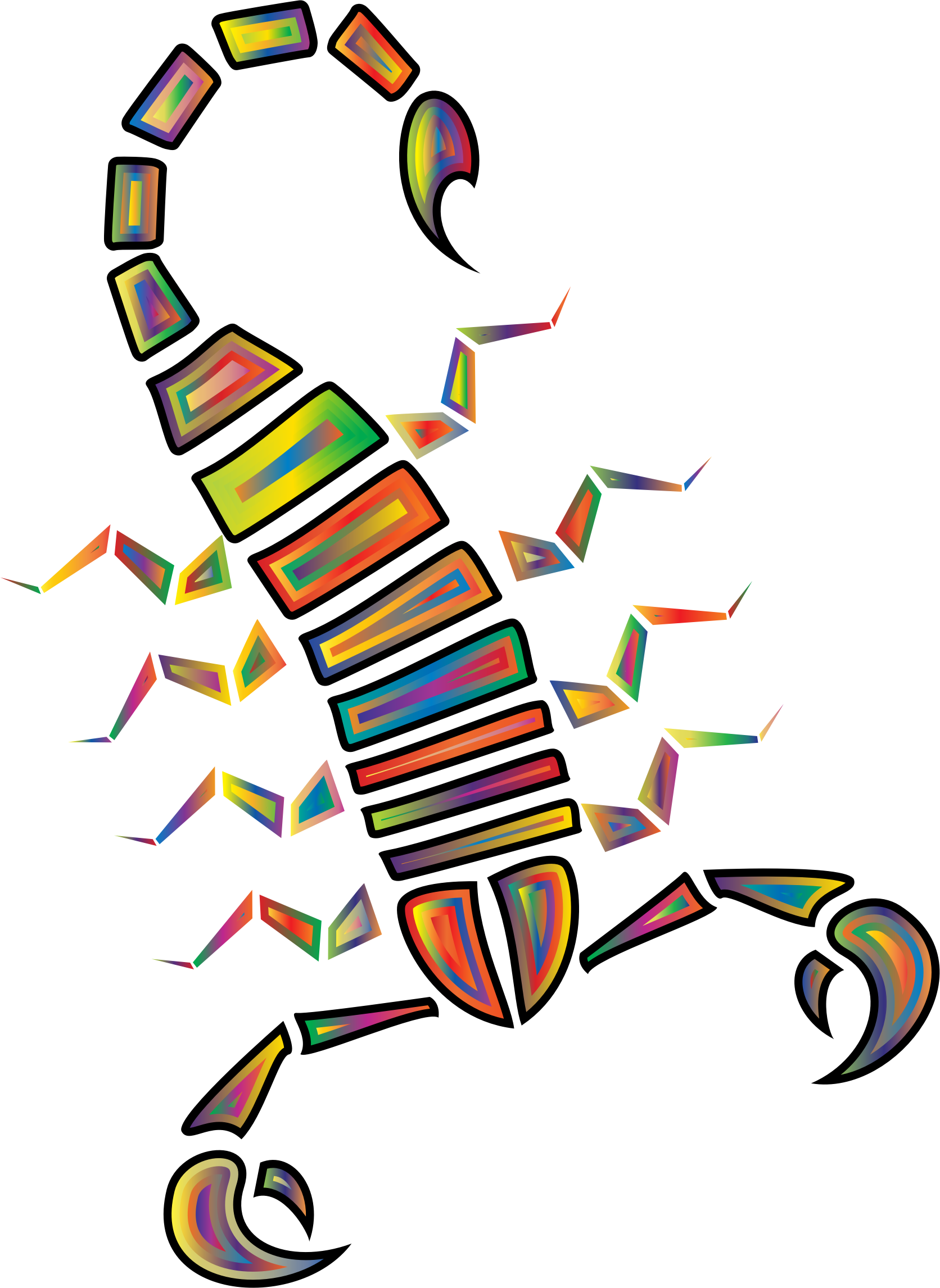 Colorful Abstract Tribal Scorpion 3 by GDJ