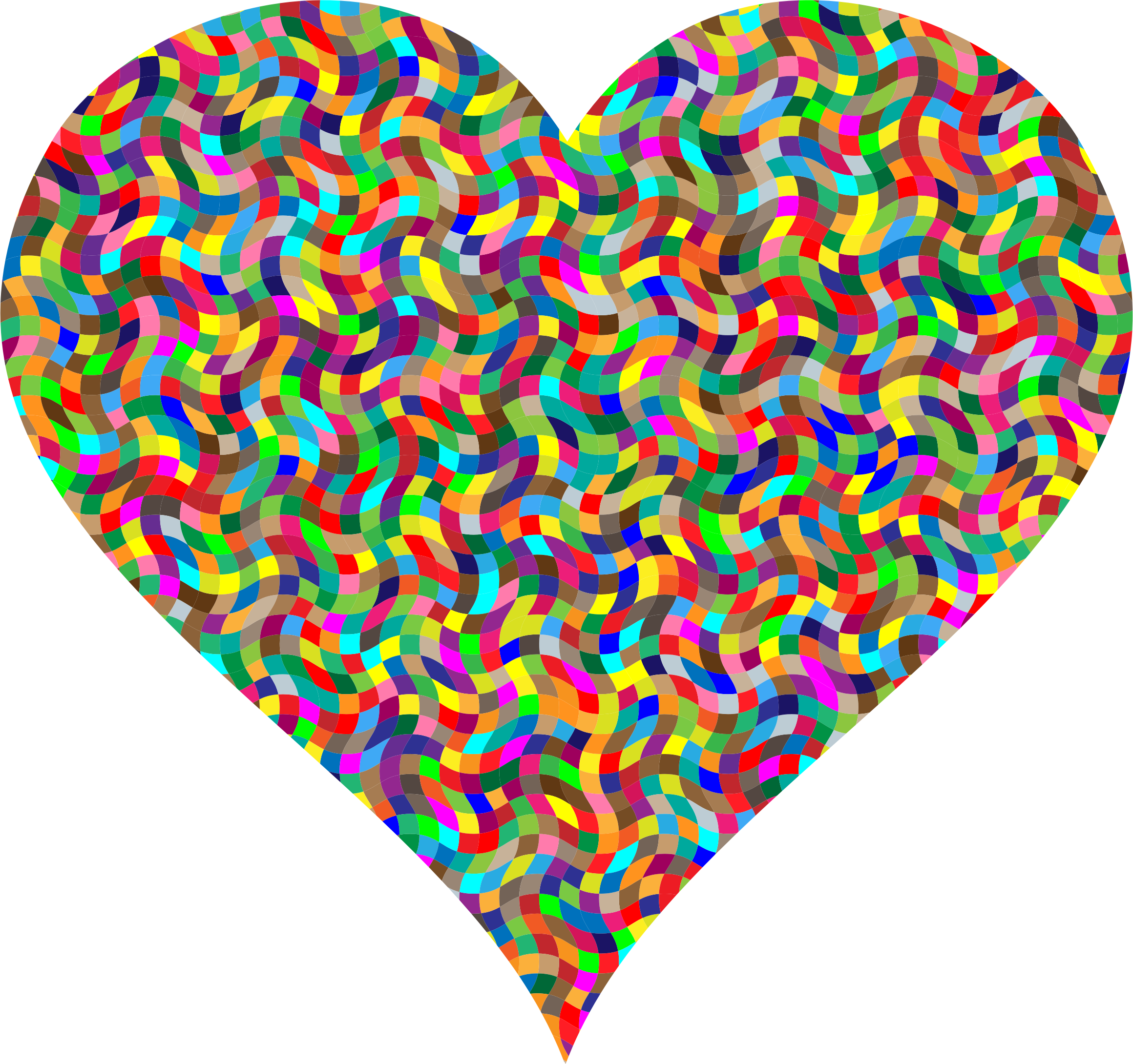 Colorful Confetti Heart by GDJ