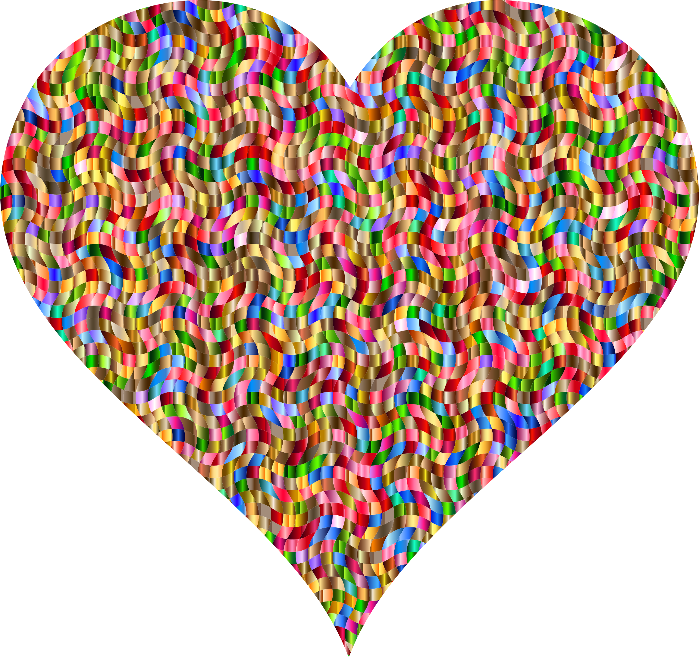 Colorful Confetti Heart 2 by GDJ