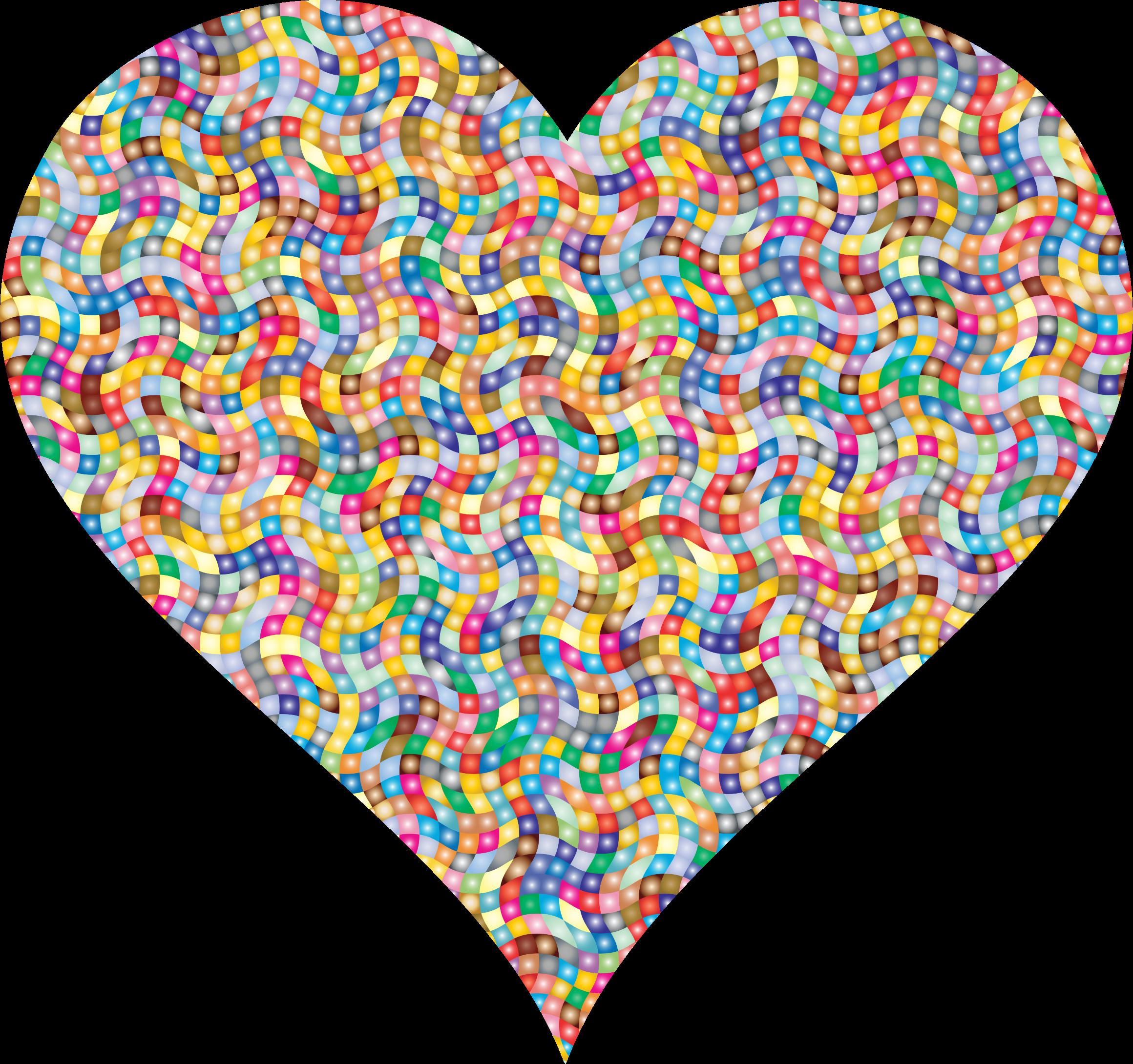 Clipart - Colorful Confetti Heart 4