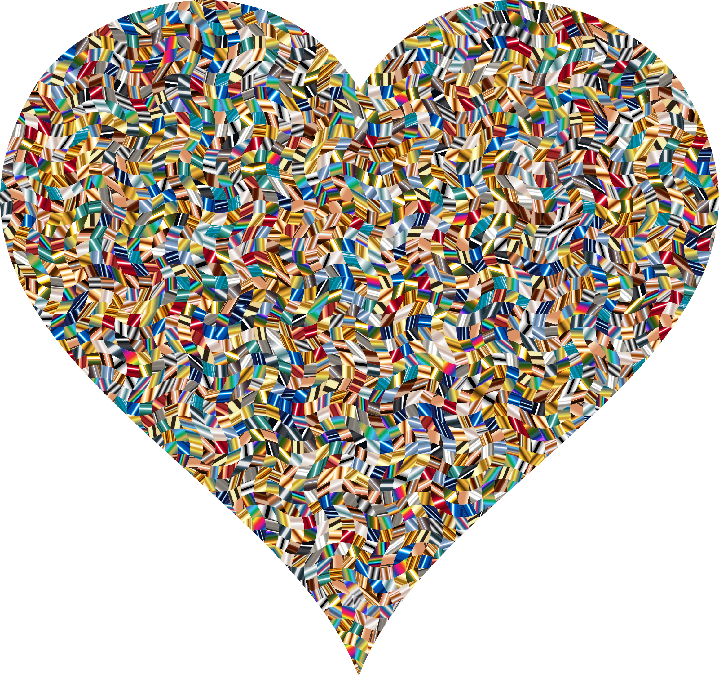 Colorful Confetti Heart 5 Variation 2 by GDJ