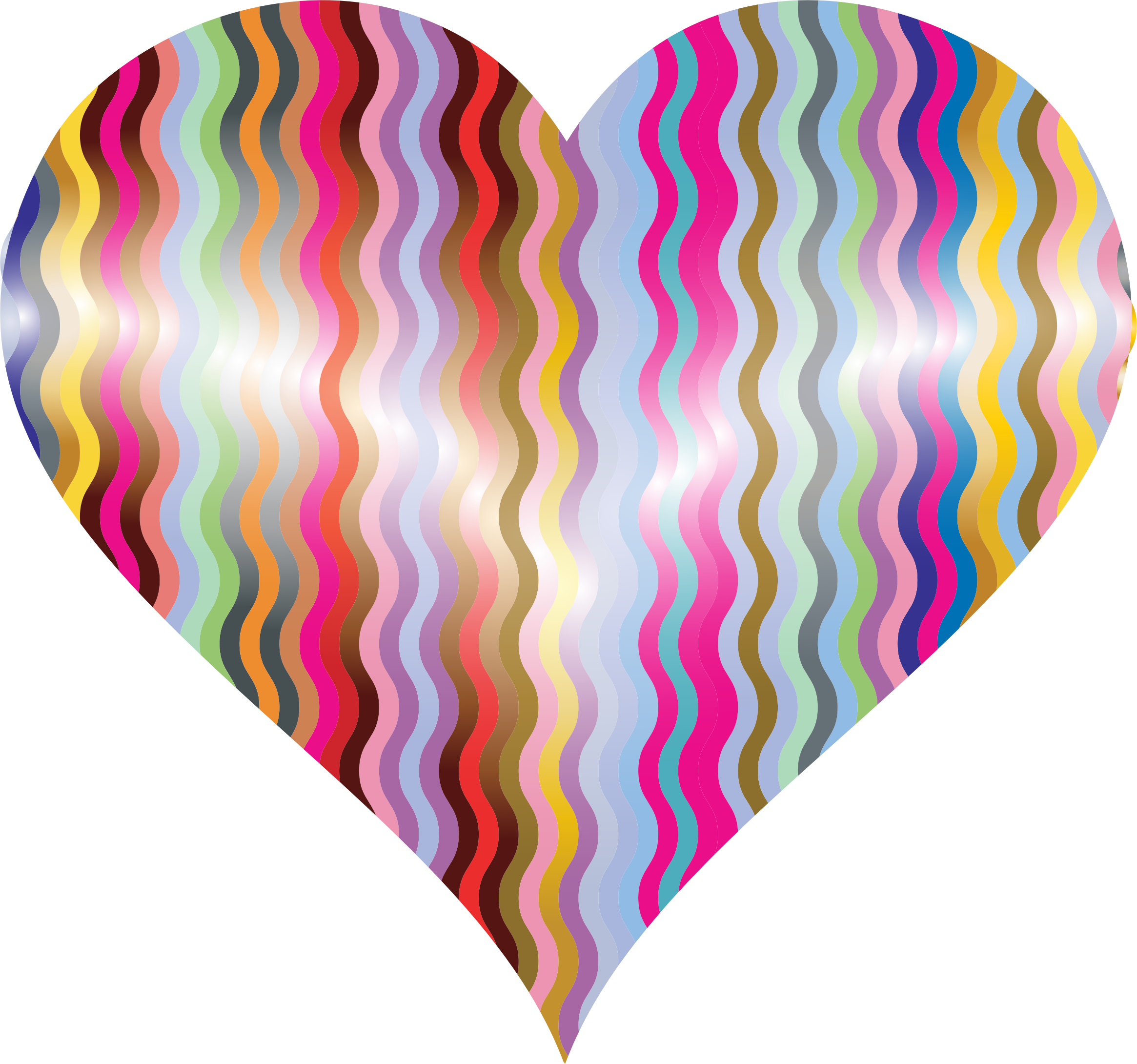 Colorful Wavy Heart by GDJ