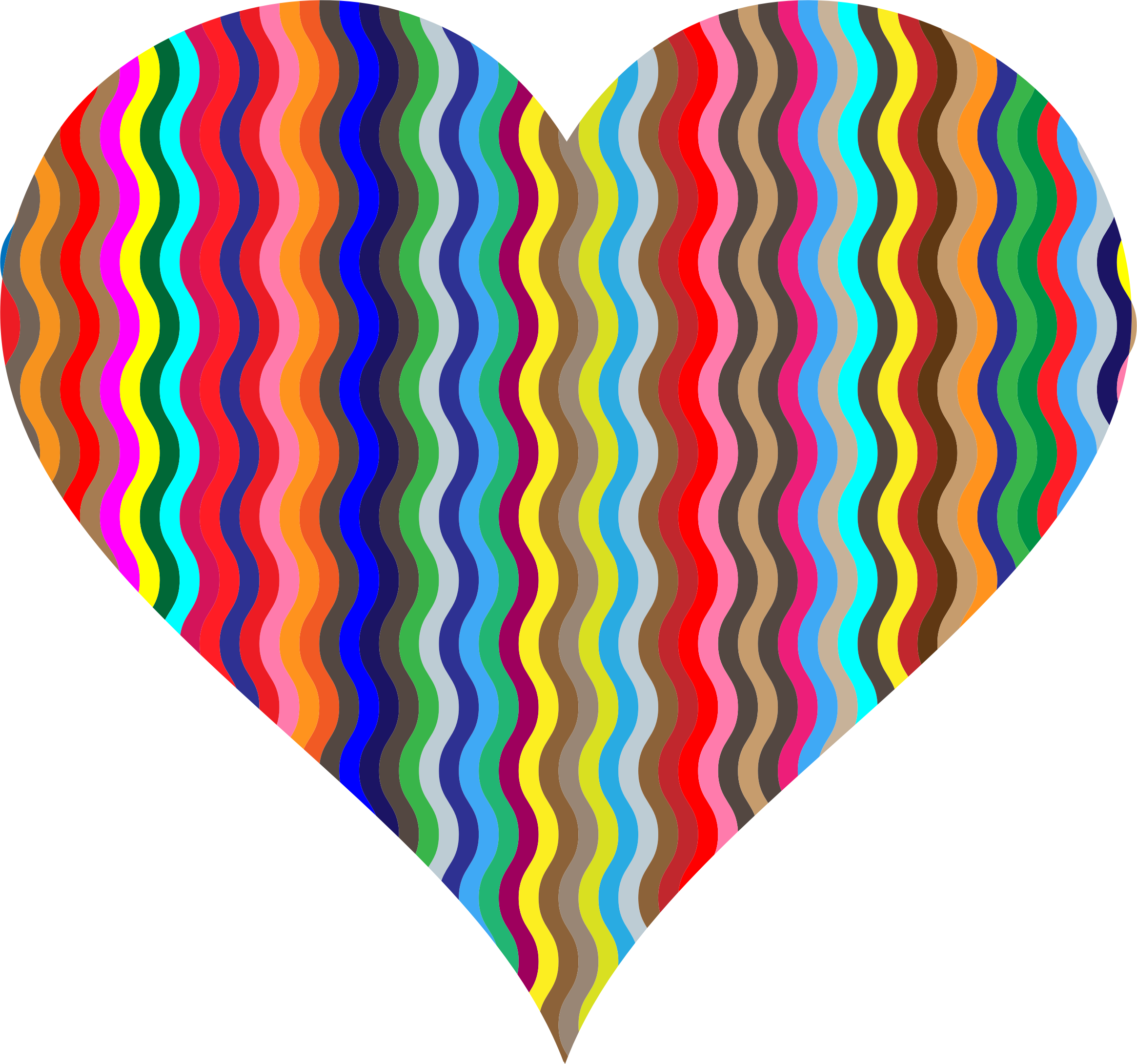 Colorful Wavy Heart 2 by GDJ