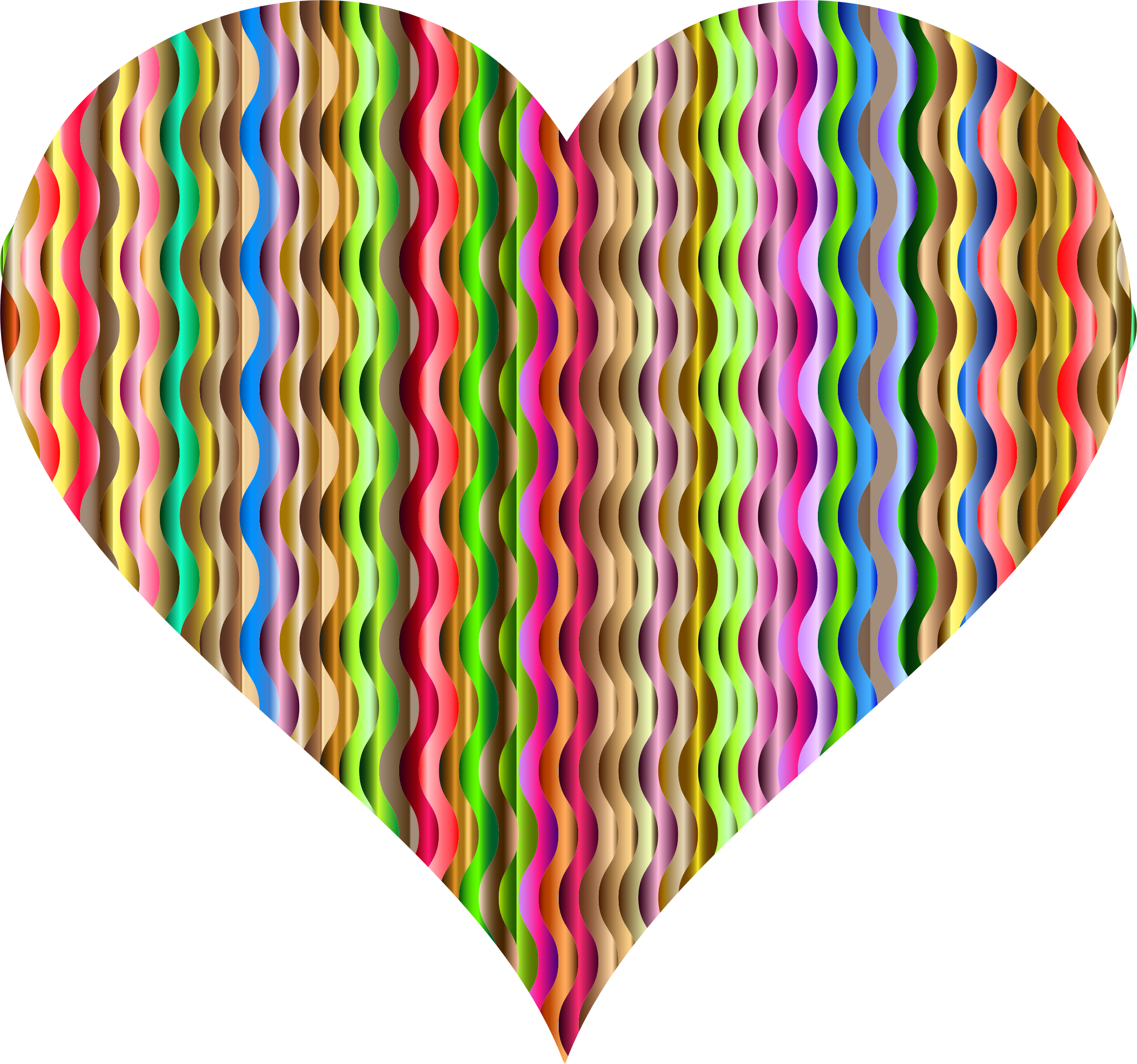 Colorful Wavy Heart 3 by GDJ