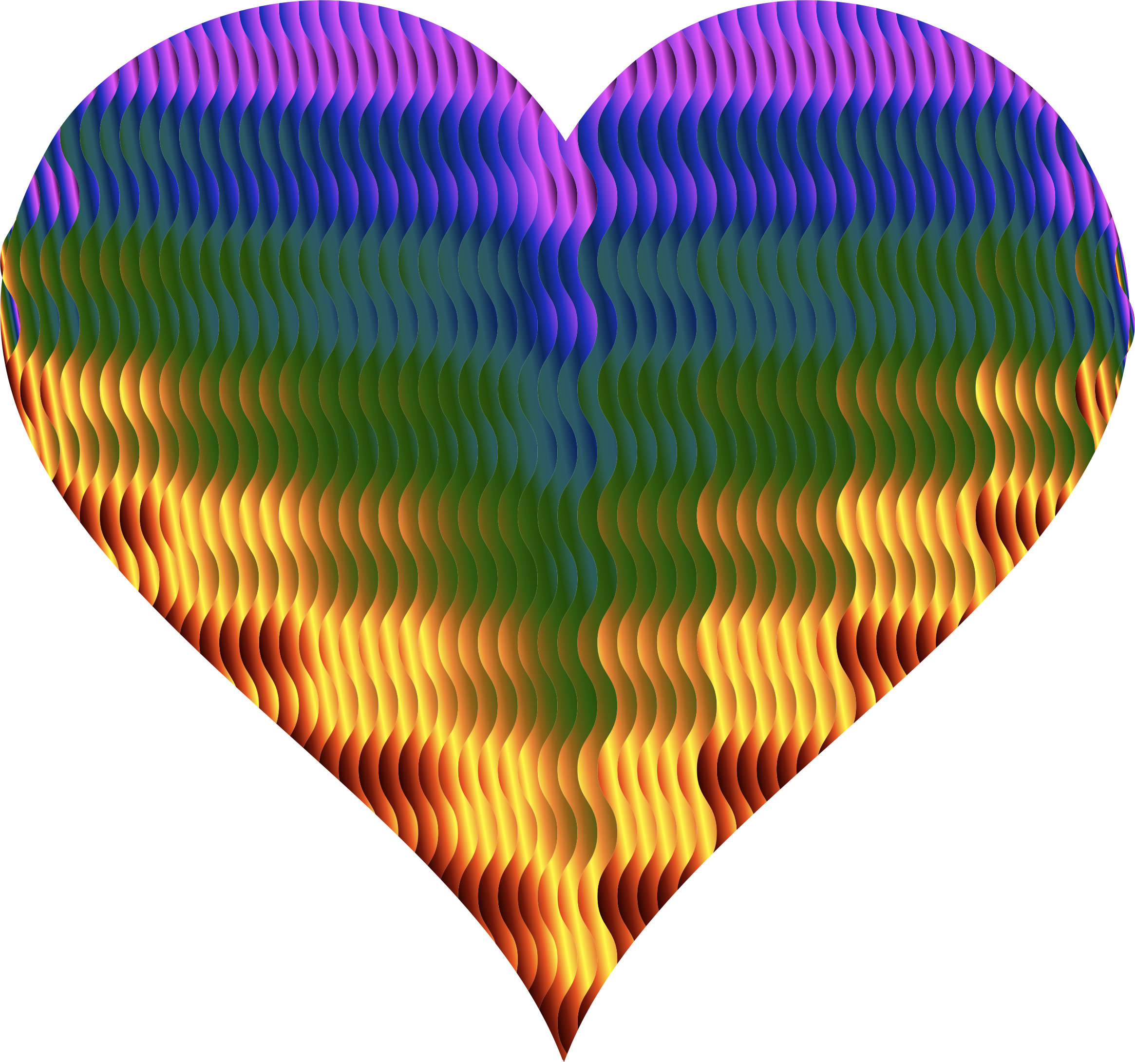Colorful Wavy Heart 5 by GDJ