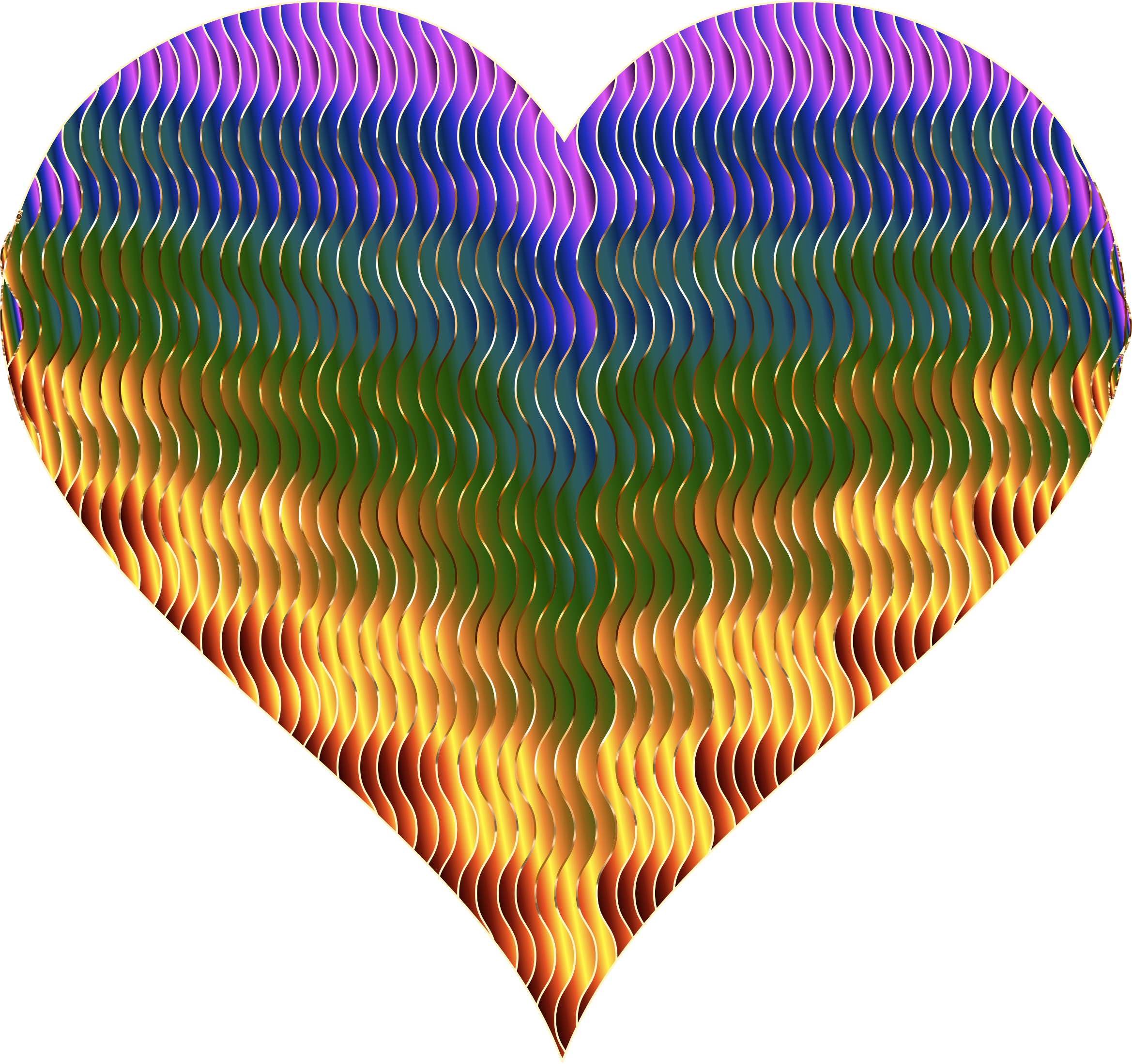Colorful Wavy Heart 5 Variation 2 by GDJ