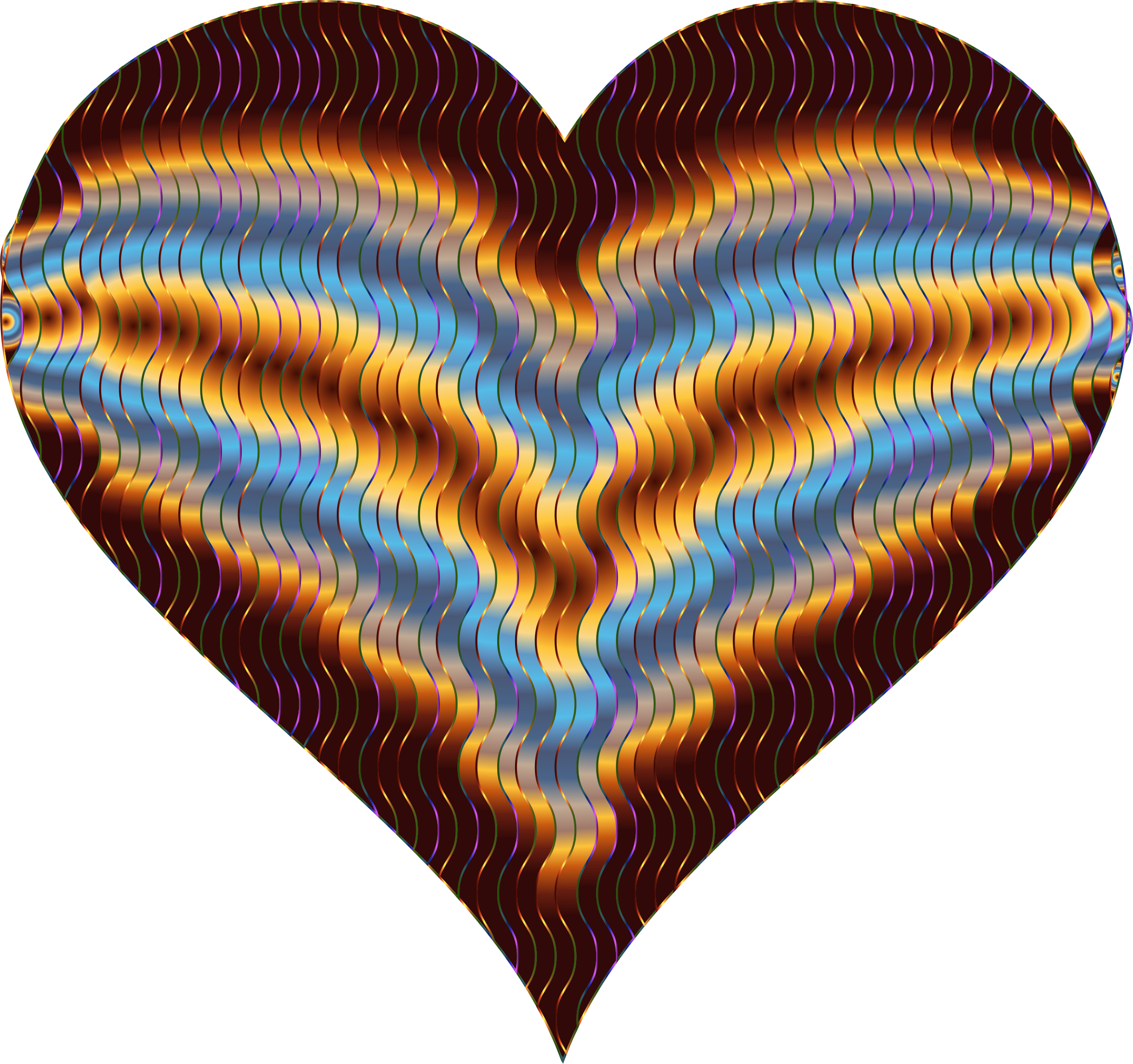 Colorful Wavy Heart 5 Variation 4 by GDJ
